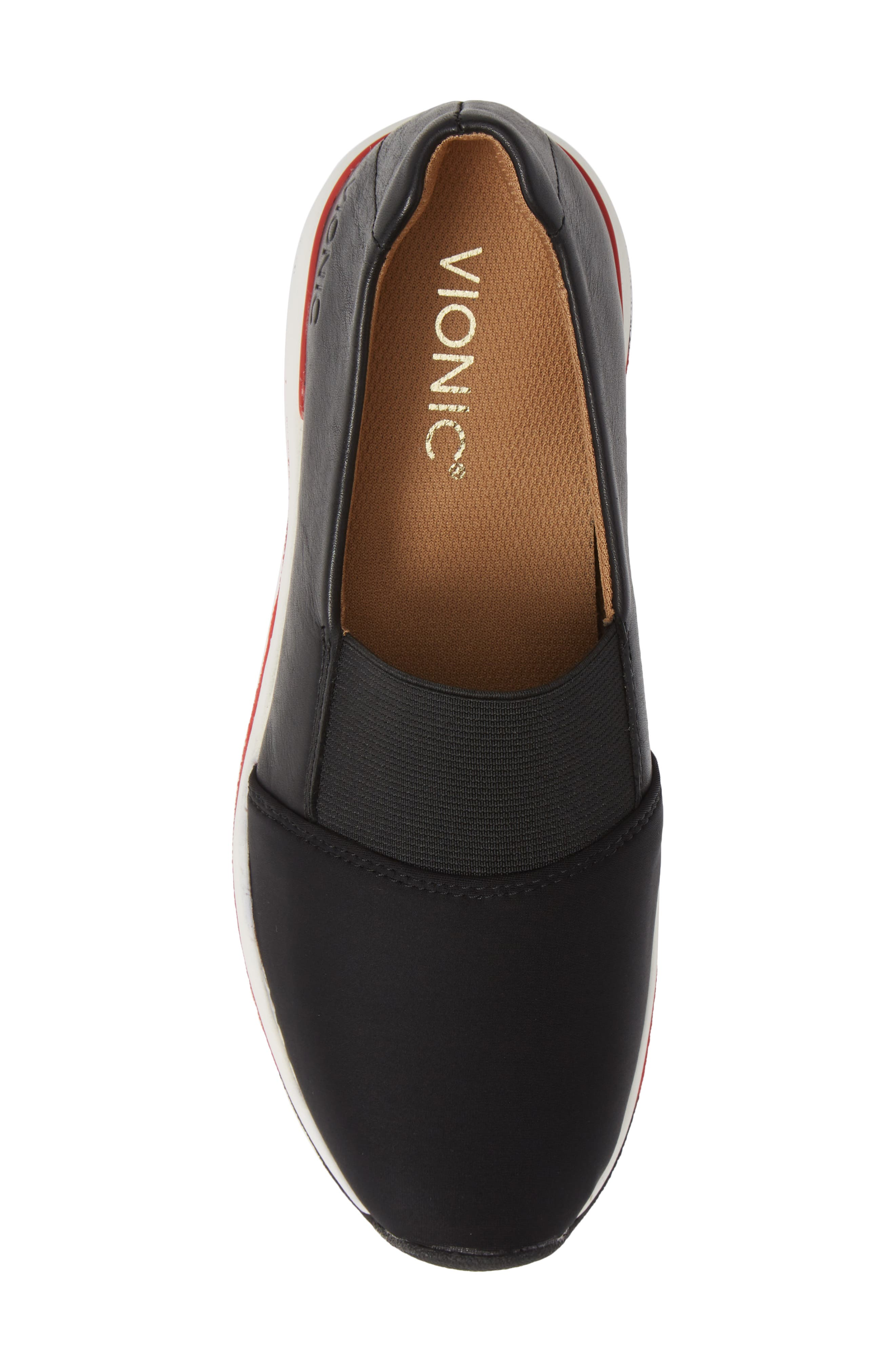 Cameo Slip-On Shoe,                             Alternate thumbnail 5, color,                             BLACK LEATHER NEOPRENE