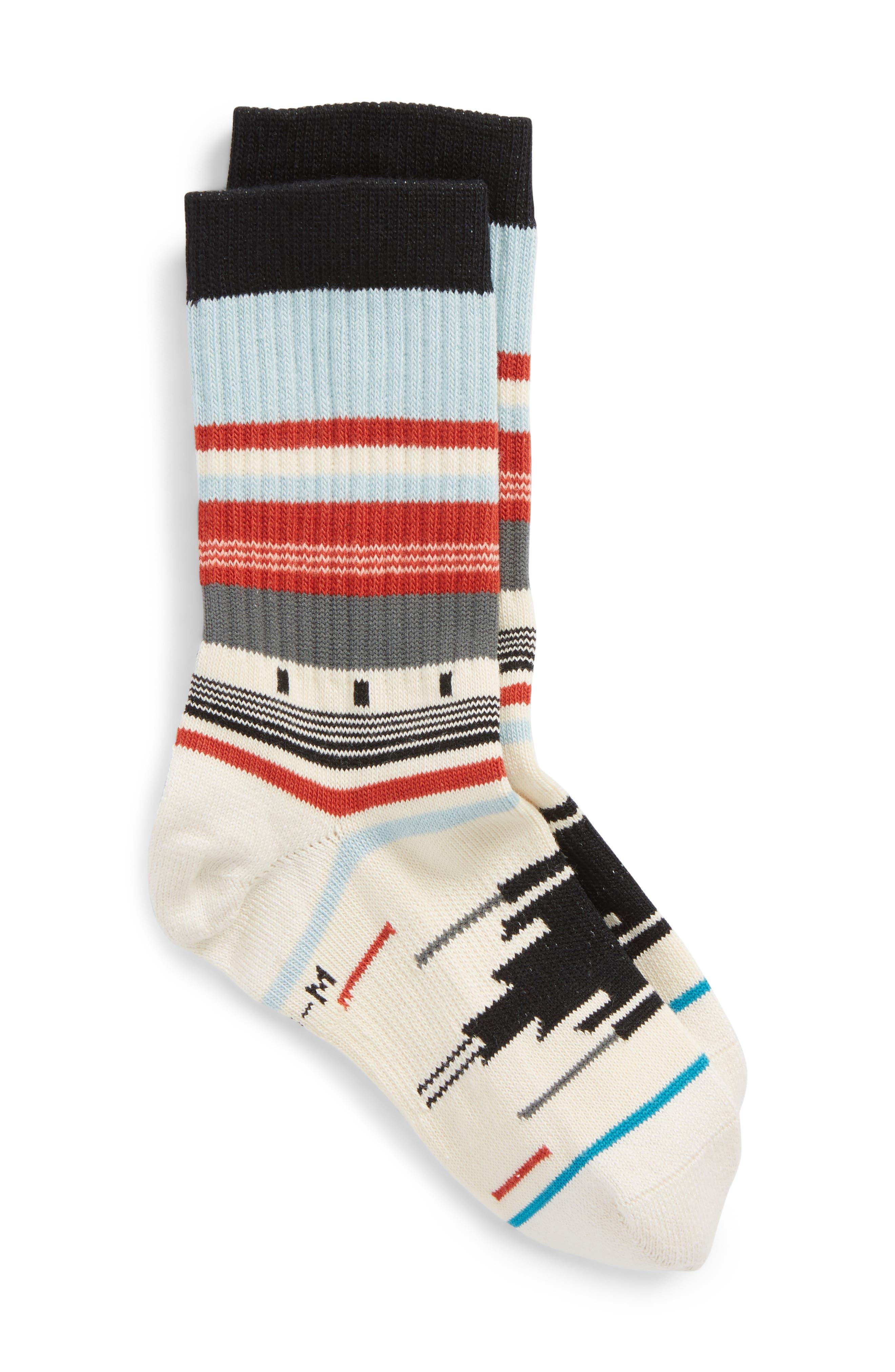 Stripe Socks,                         Main,                         color, 100