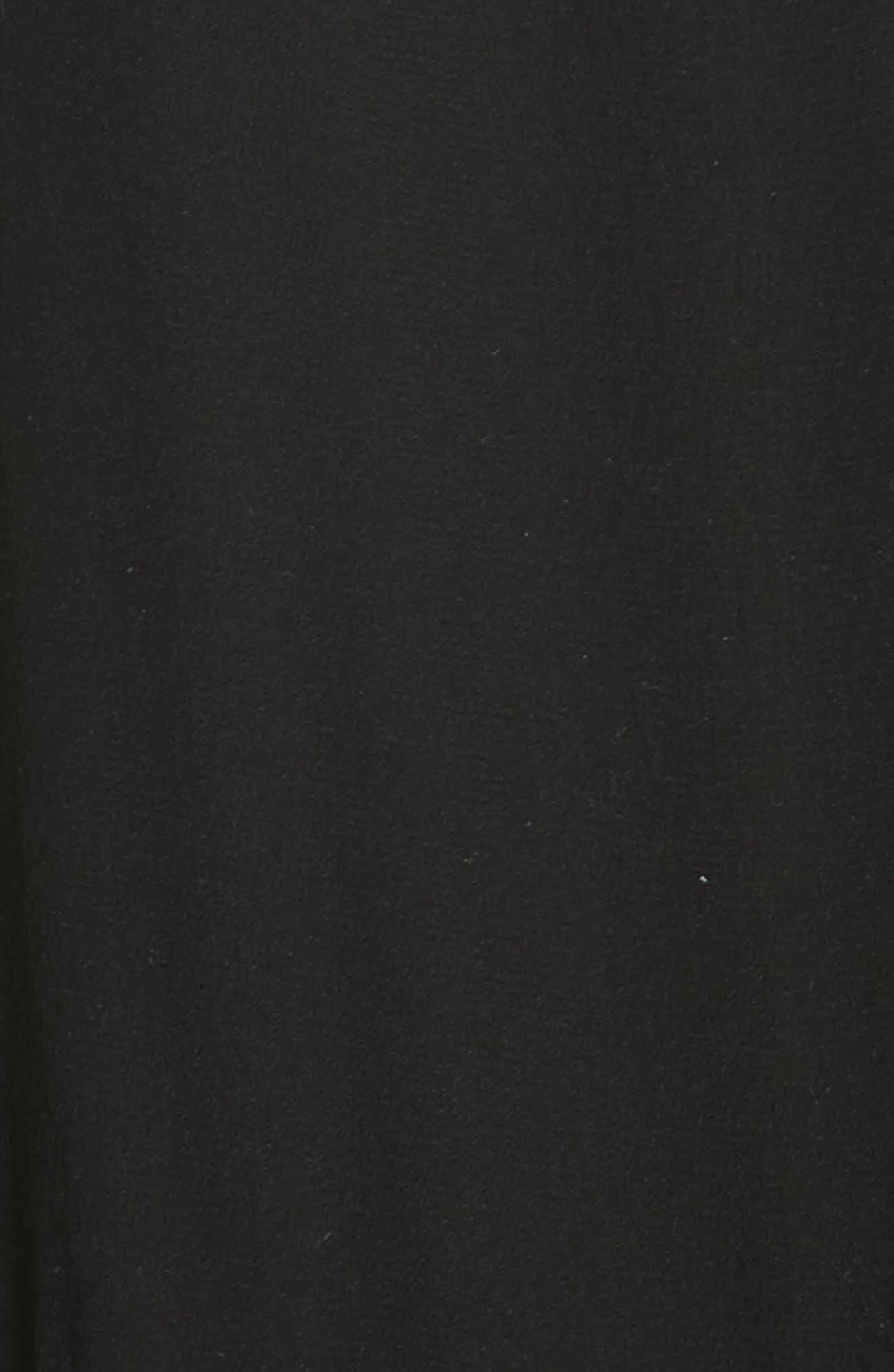 Ruffle Silk Dress,                             Alternate thumbnail 5, color,                             001