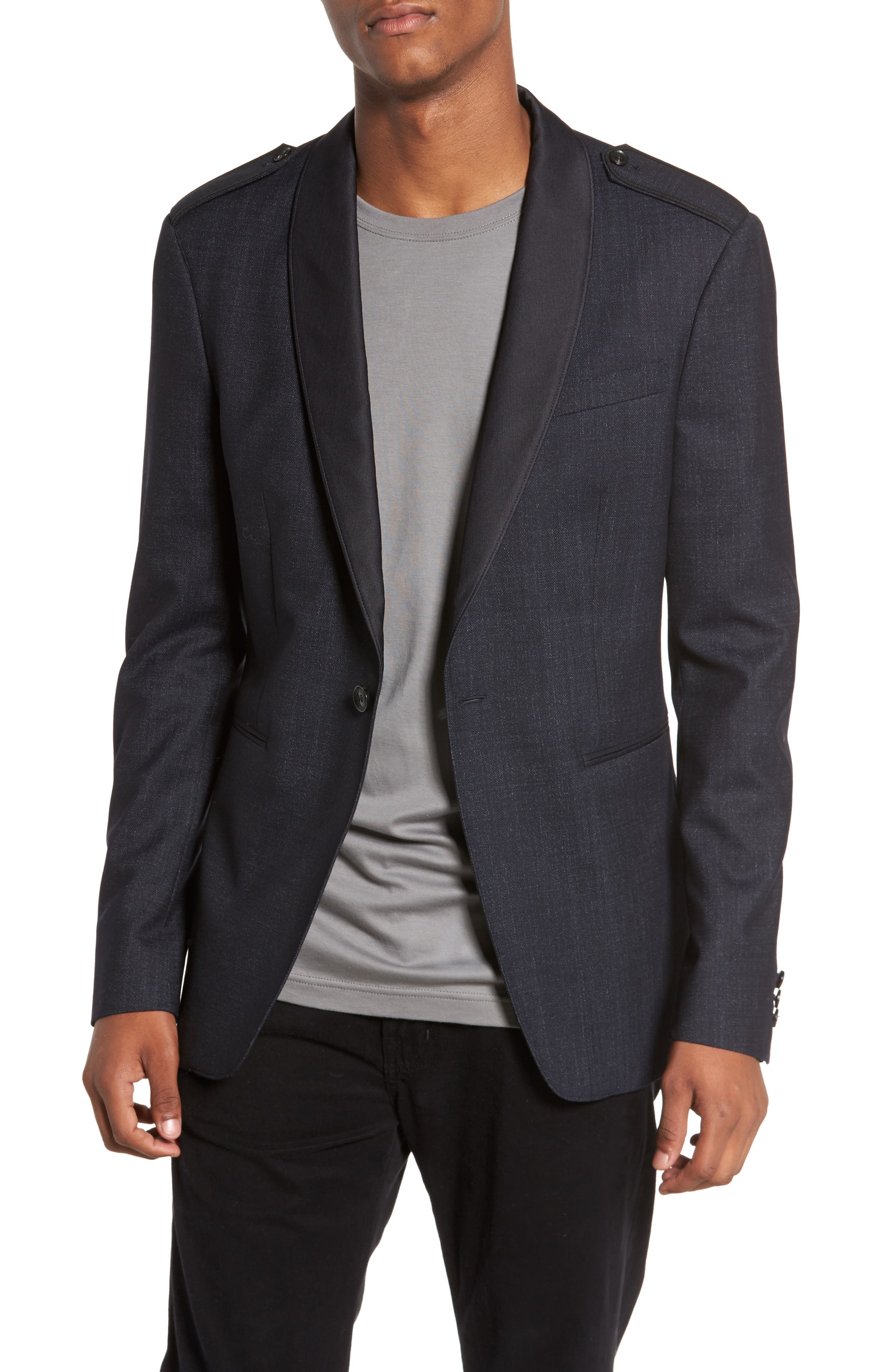 Shawl Collar Wool Blazer,                             Main thumbnail 1, color,                             414
