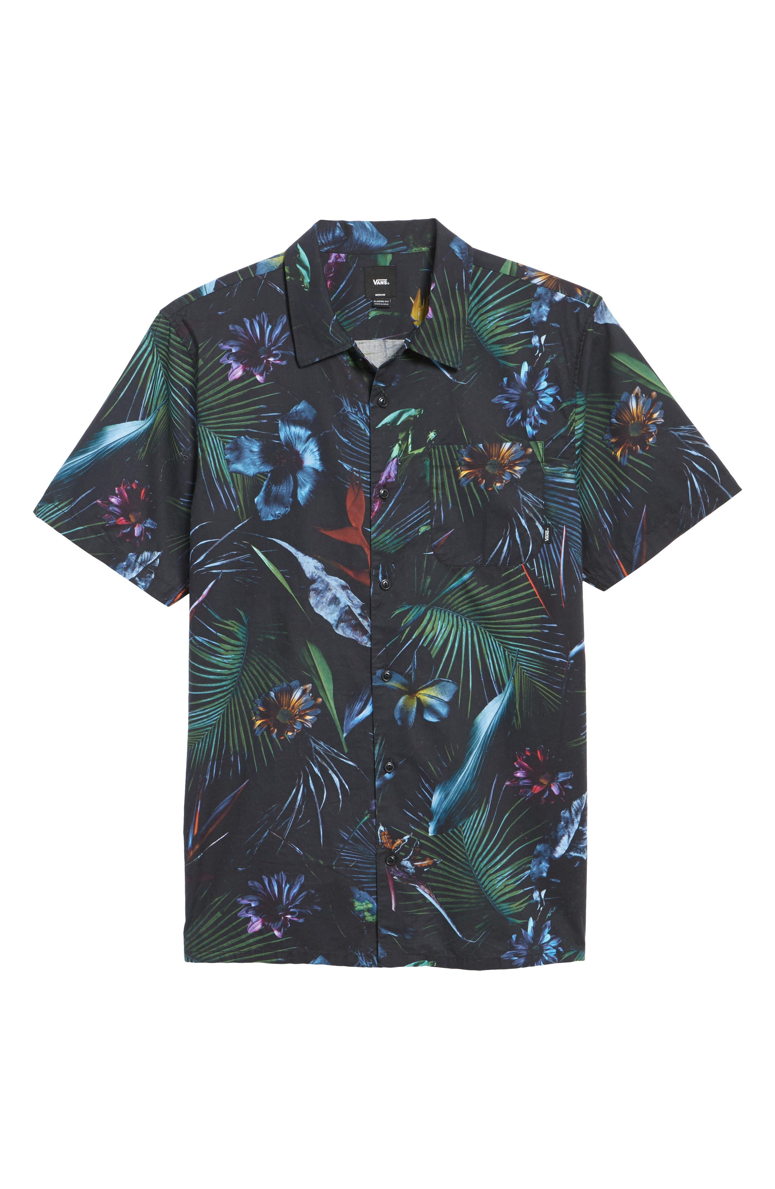 Neo Jungle Short Sleeve Shirt,                             Alternate thumbnail 6, color,                             001