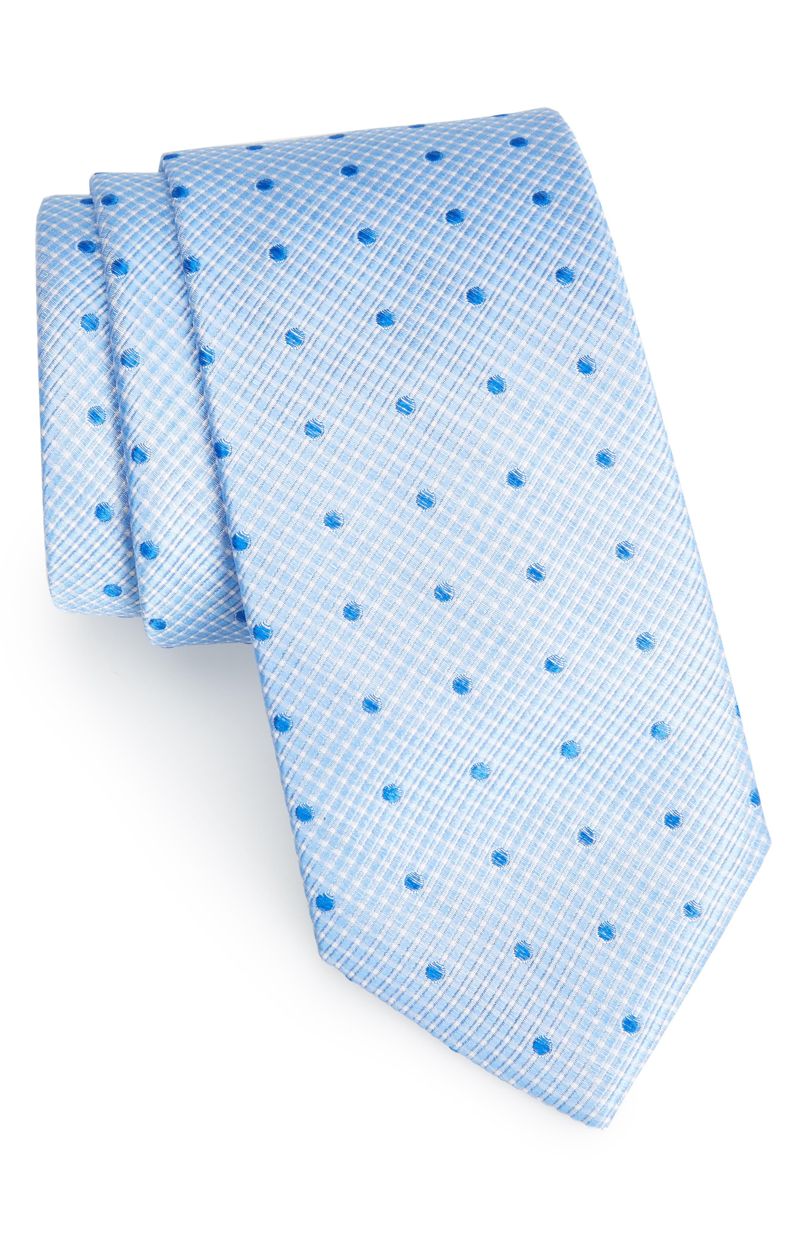 Drayton Dot Silk Tie,                         Main,                         color, BLUE
