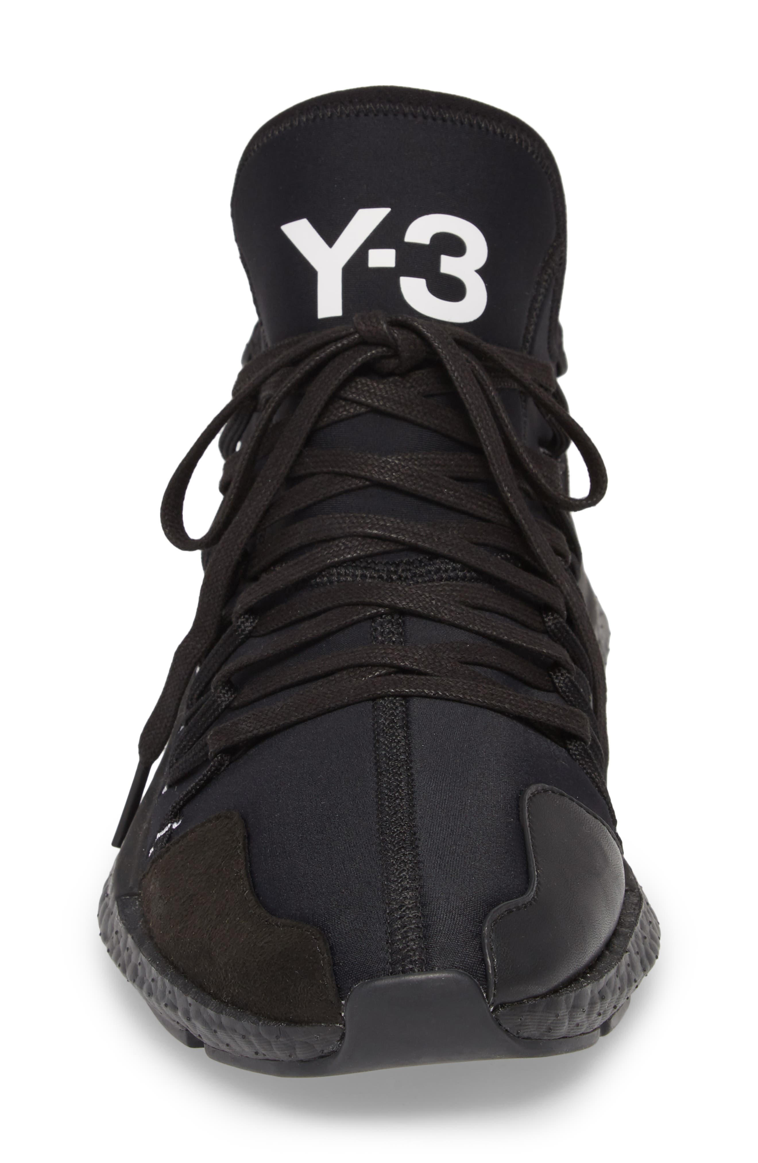 x adidas Kusari Sneaker,                             Alternate thumbnail 4, color,                             BLACK/BLACK