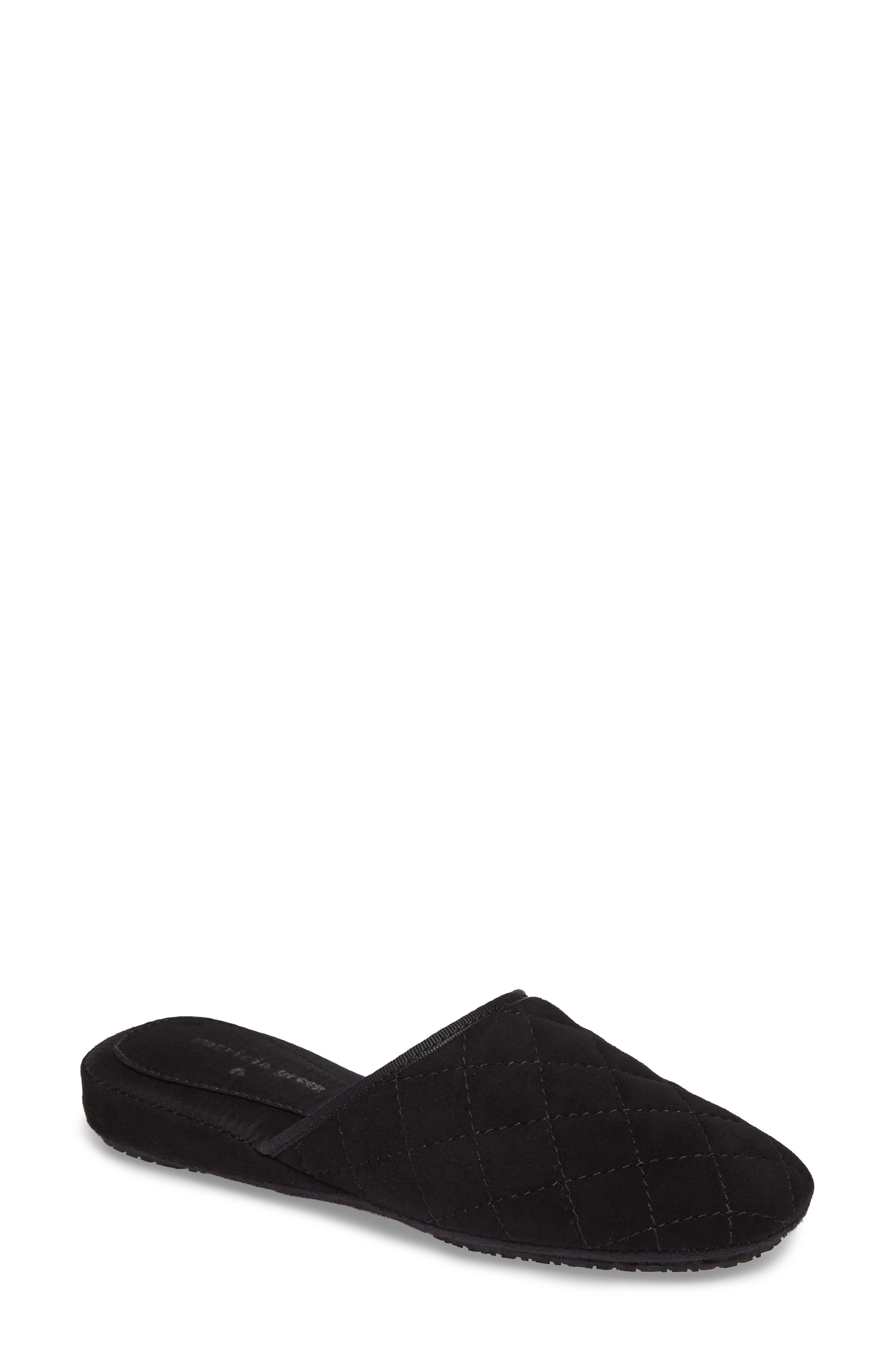 Coco Slipper,                         Main,                         color, BLACK SUEDE