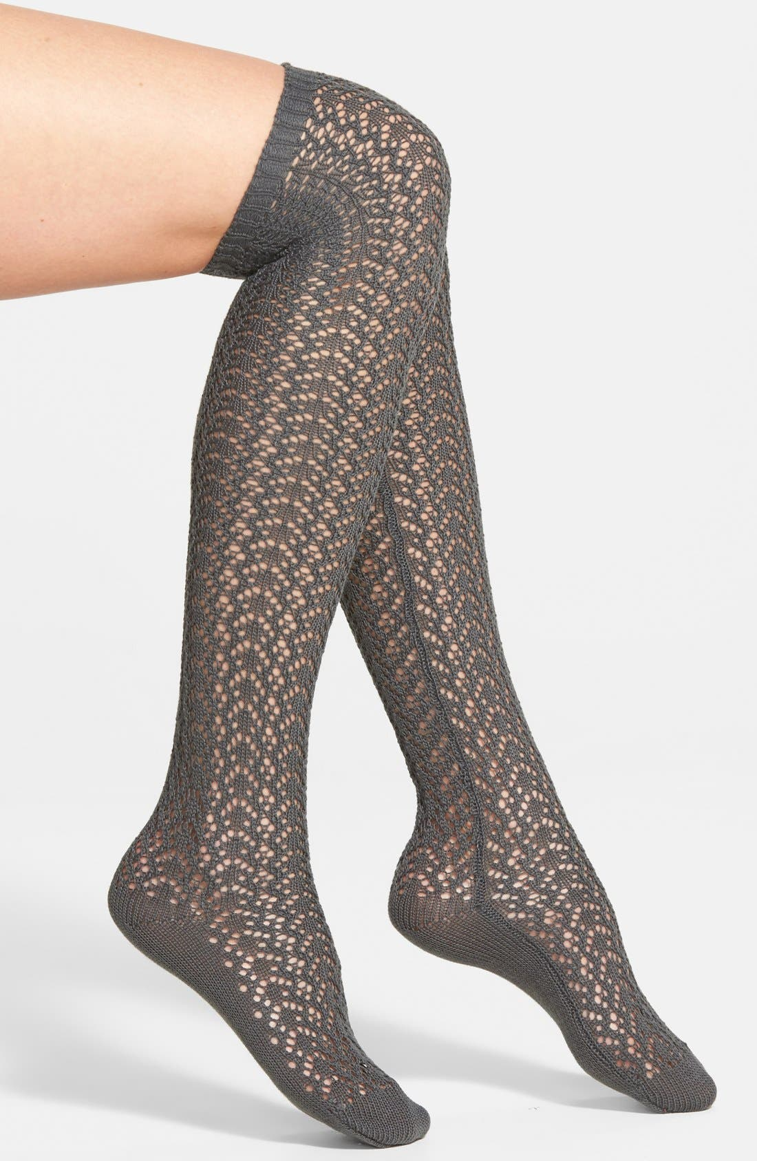 'Sailors' Openwork Knit Over the Knee Socks,                             Main thumbnail 1, color,                             065