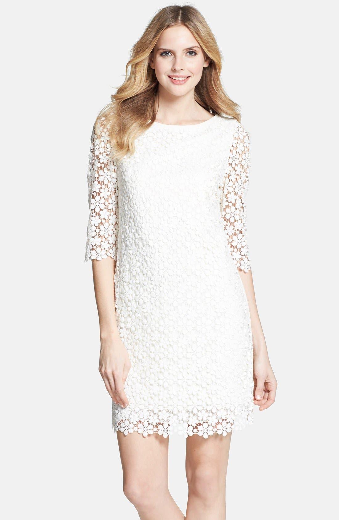 'Tibi' Daisy Guipure Lace Shift Dress,                         Main,                         color, 150