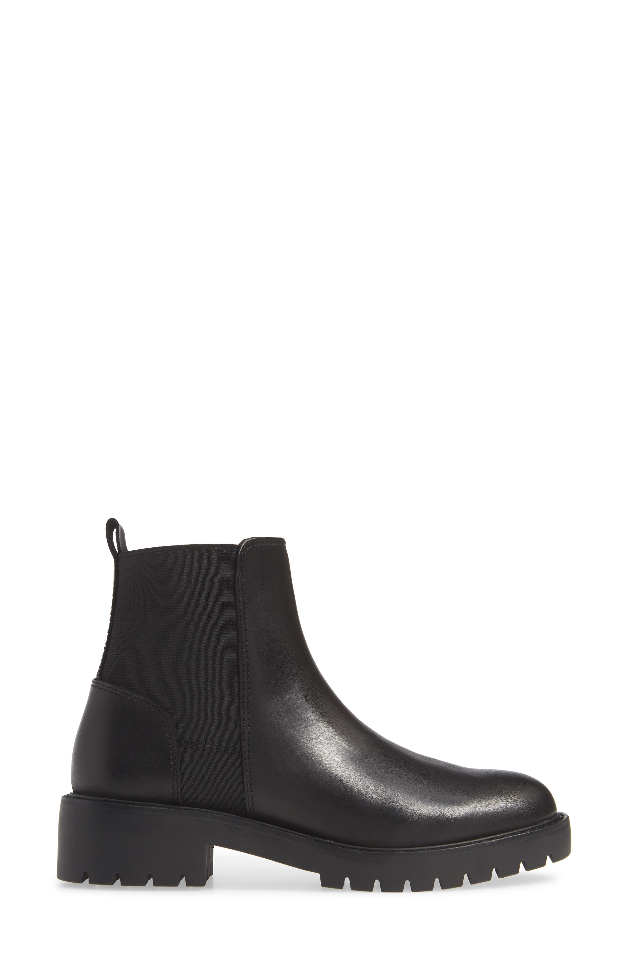 Gliding Boot,                             Alternate thumbnail 3, color,                             BLACK LEATHER