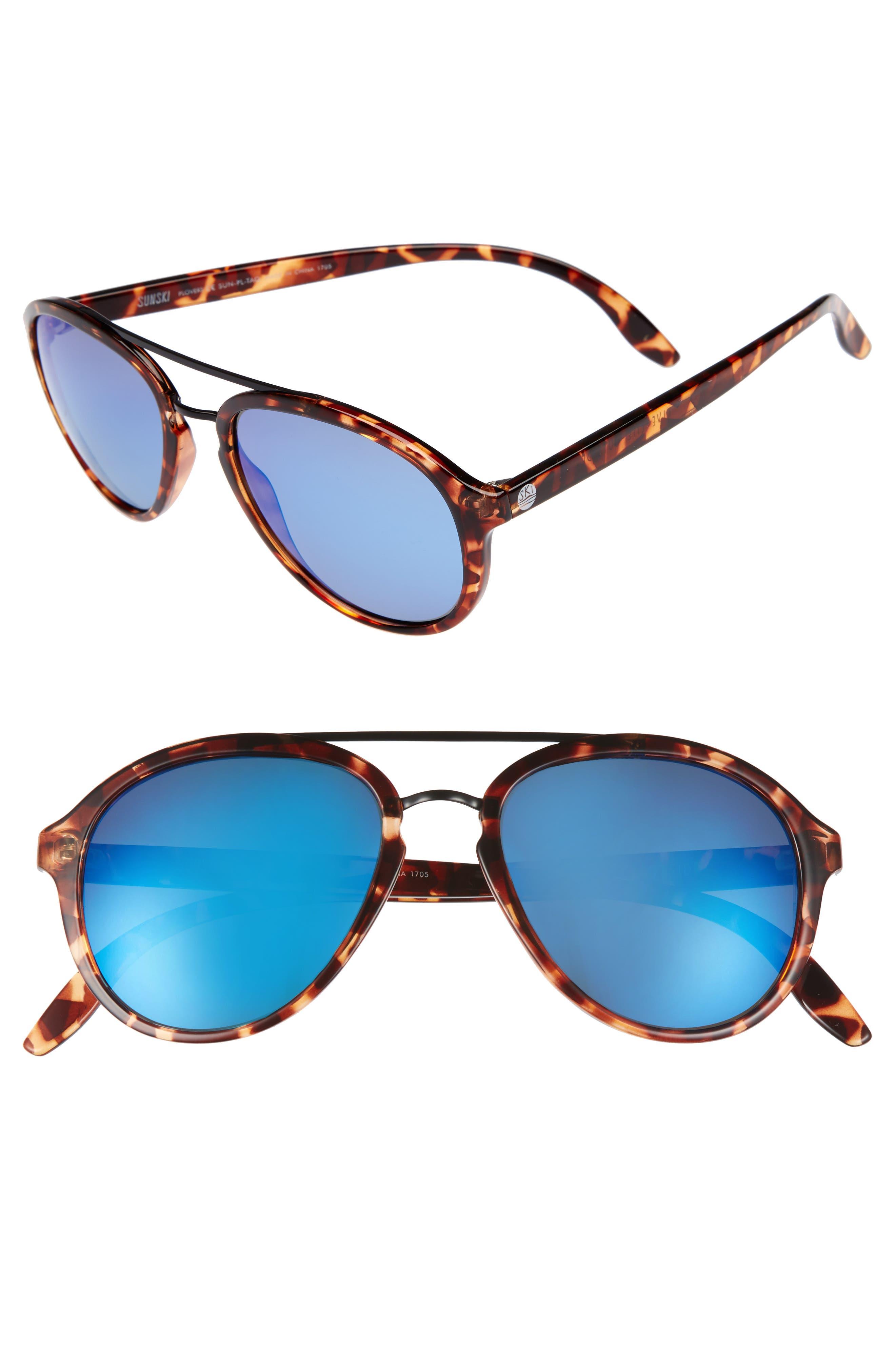 Sunski Plover 60Mm Polarized Sunglasses - Tortoise Aqua