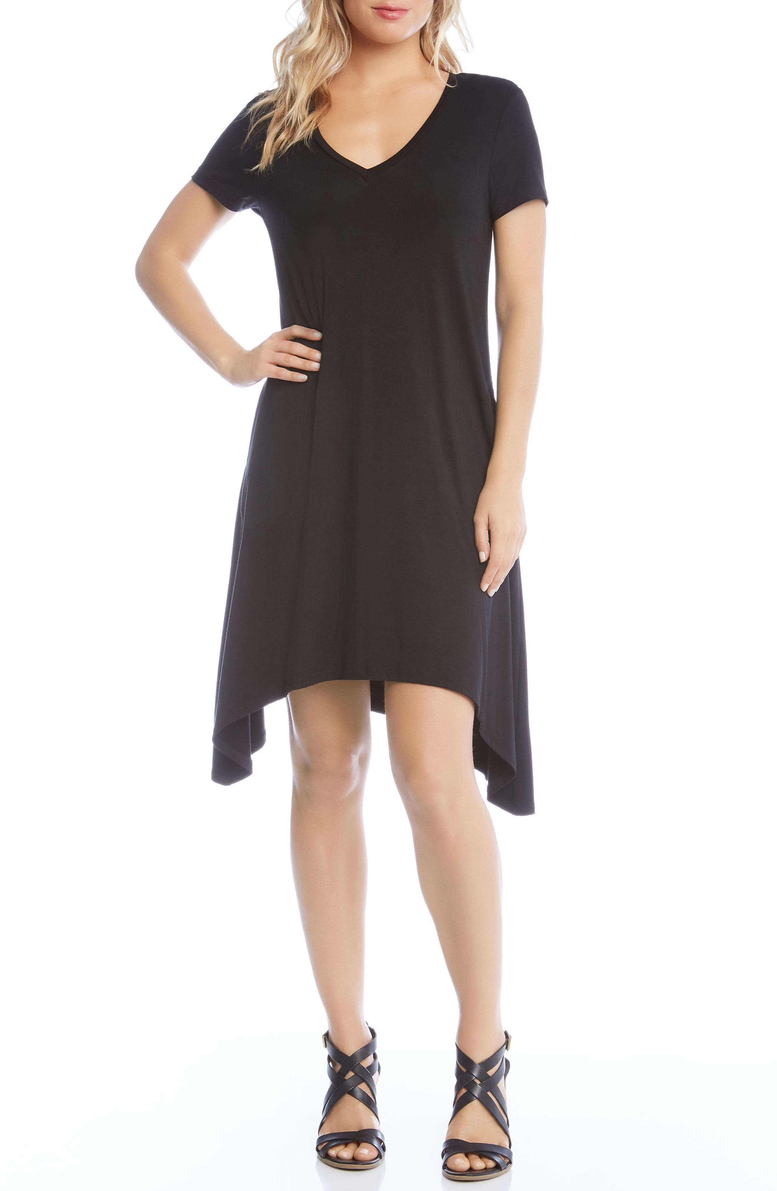 Hailey High/Low Dress,                         Main,                         color, BLACK