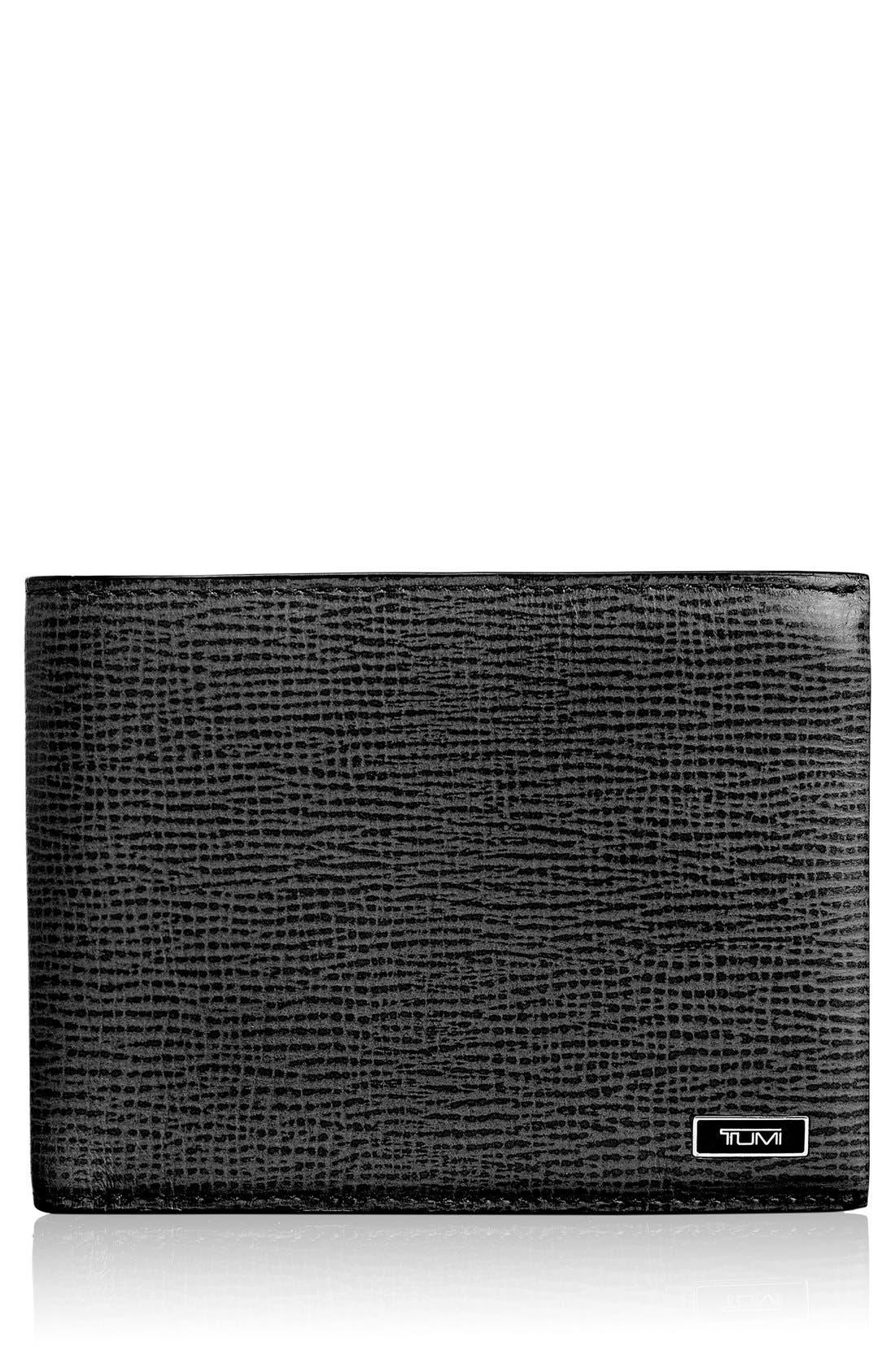 Monaco Global Billfold Wallet,                             Main thumbnail 1, color,                             BLACK