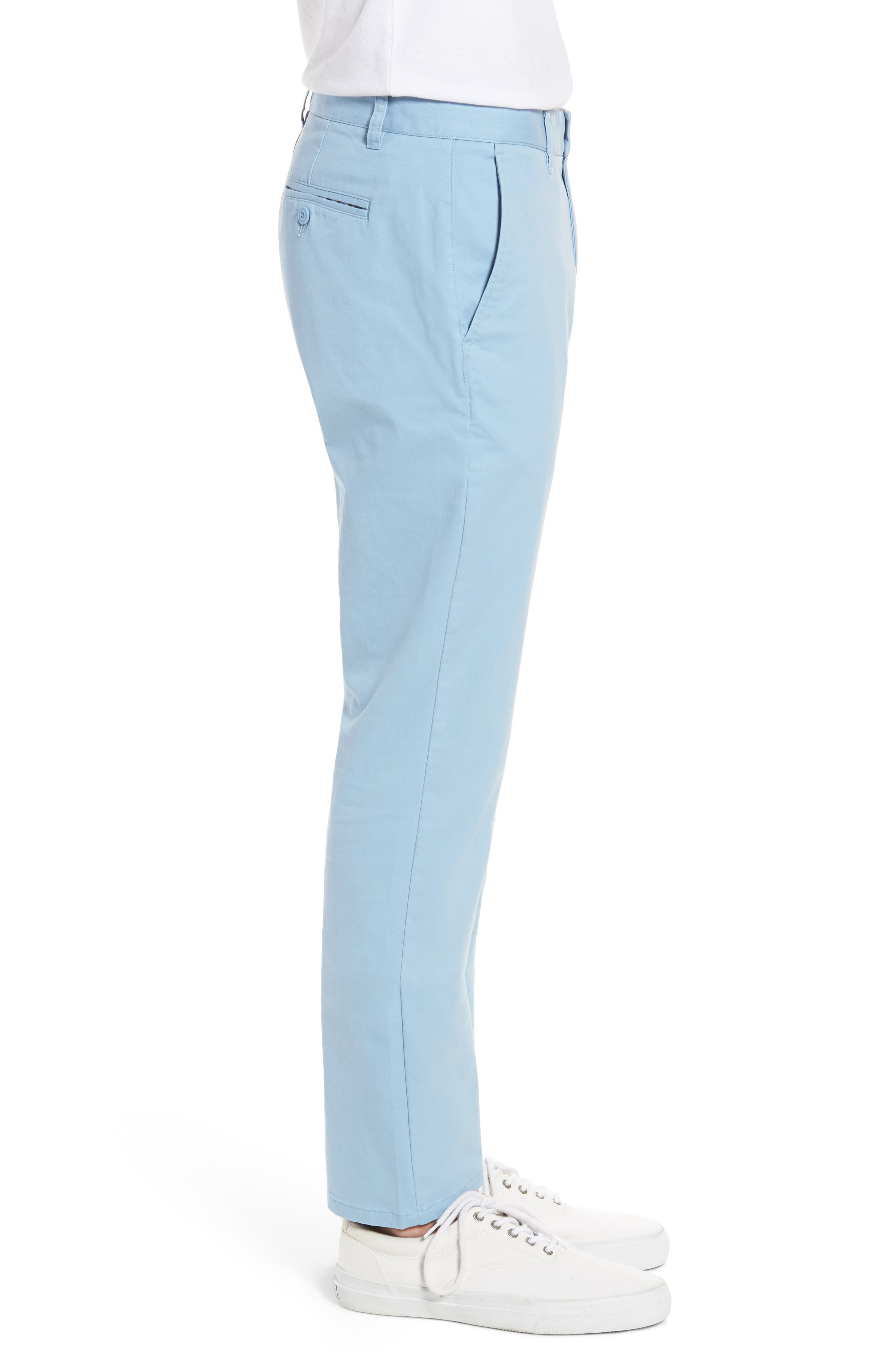 Tailored Fit Washed Stretch Cotton Chinos,                             Alternate thumbnail 82, color,
