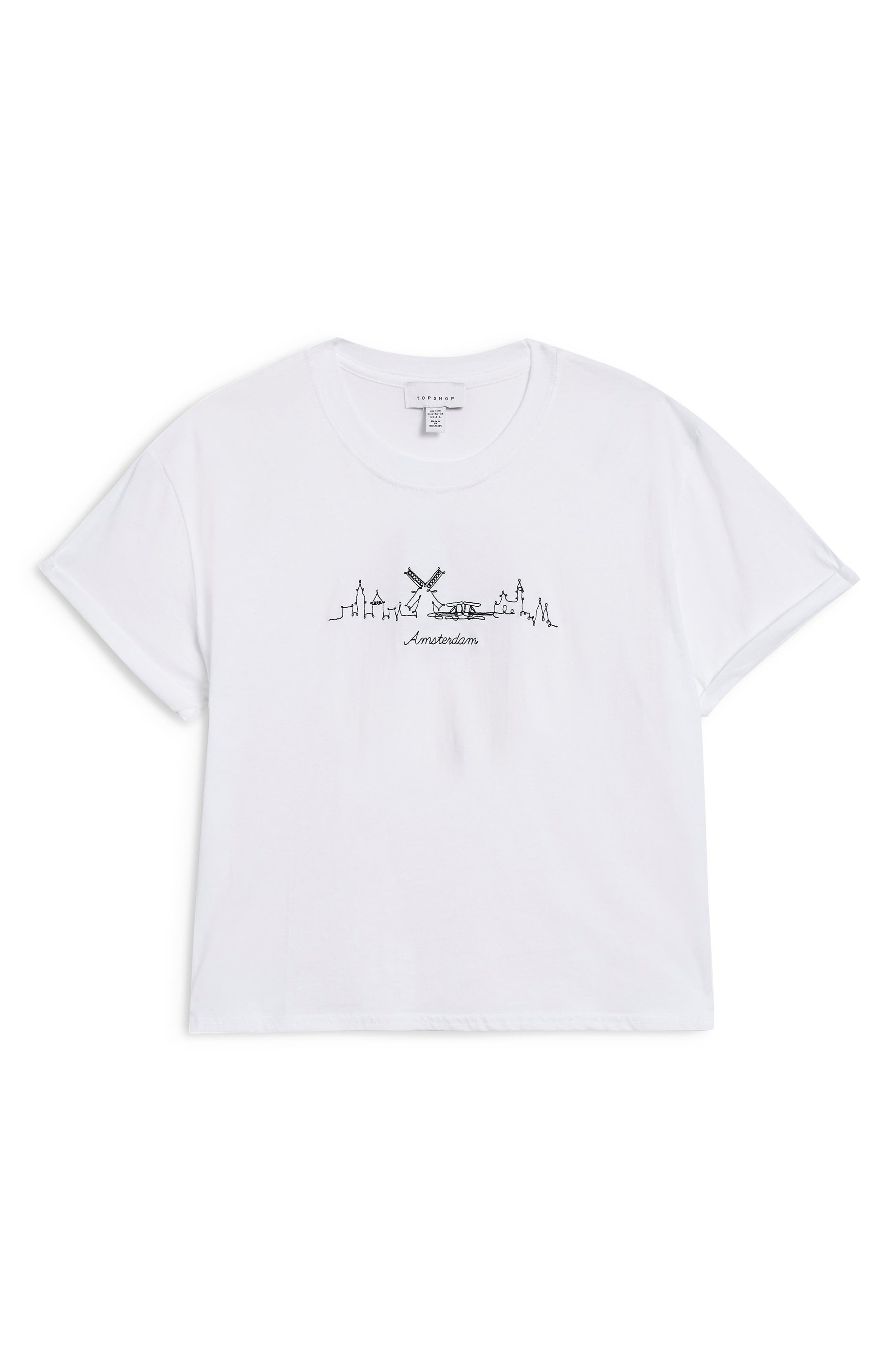 Skyline Graphic Tee,                             Alternate thumbnail 4, color,                             WHITE