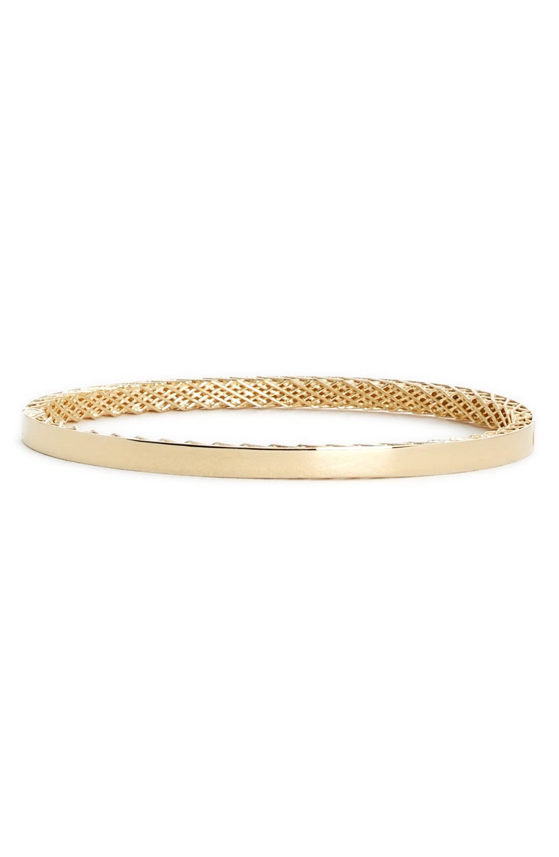 'Symphony' Slender Bangle,                         Main,                         color, YELLOW GOLD