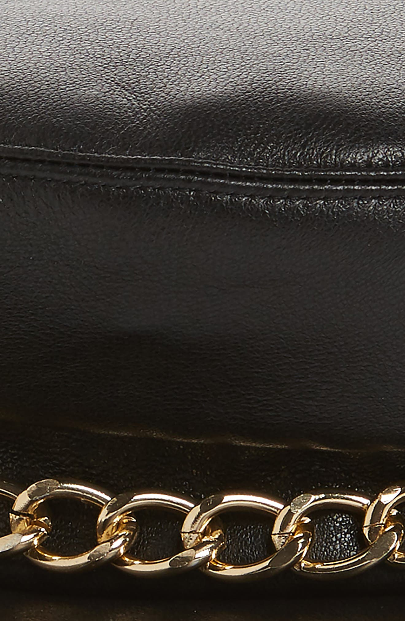 Marina Leather Baker Boy Cap,                             Alternate thumbnail 2, color,                             BLACK