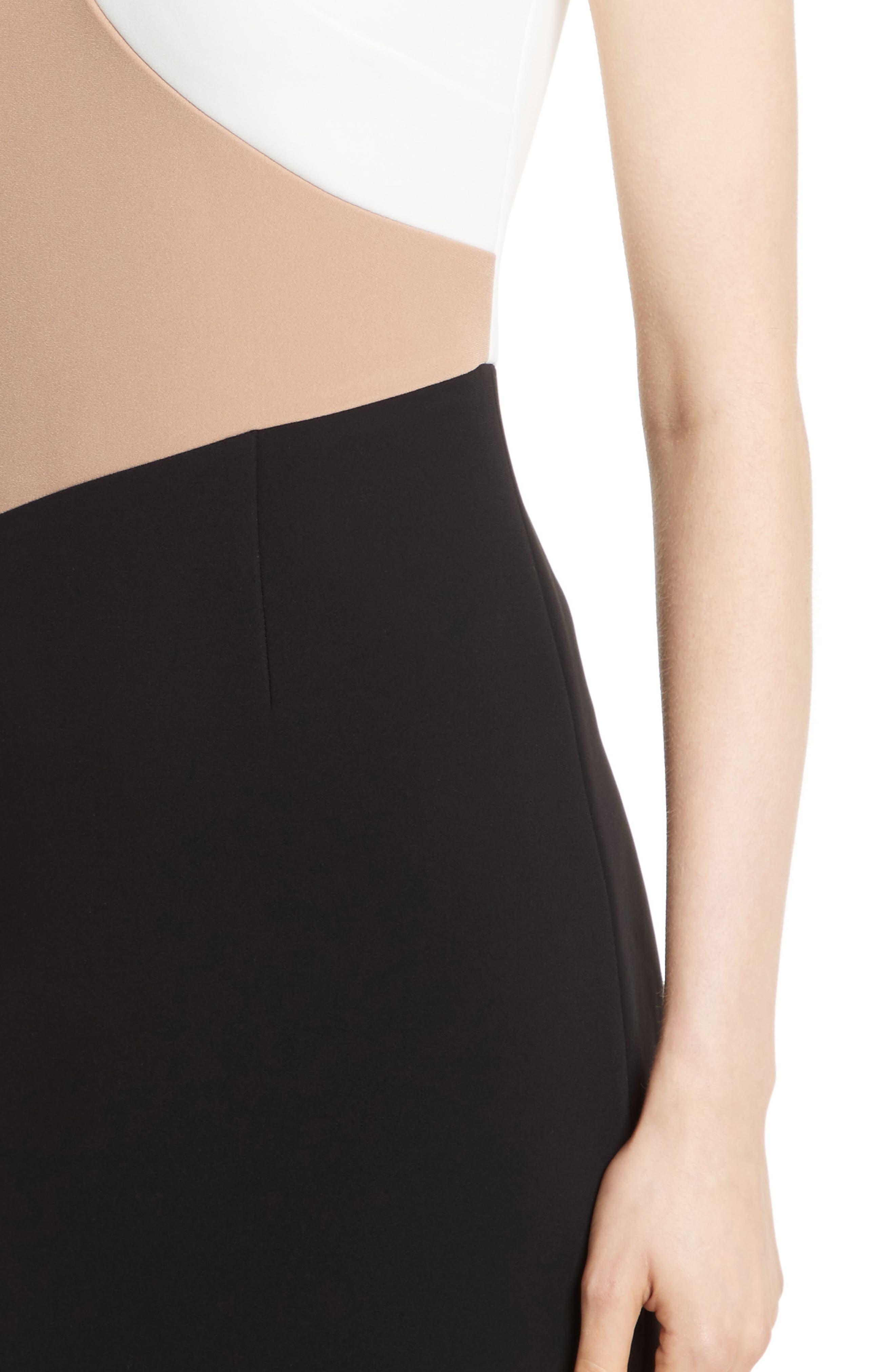 Colorblock Sheath Dress,                             Alternate thumbnail 4, color,                             003