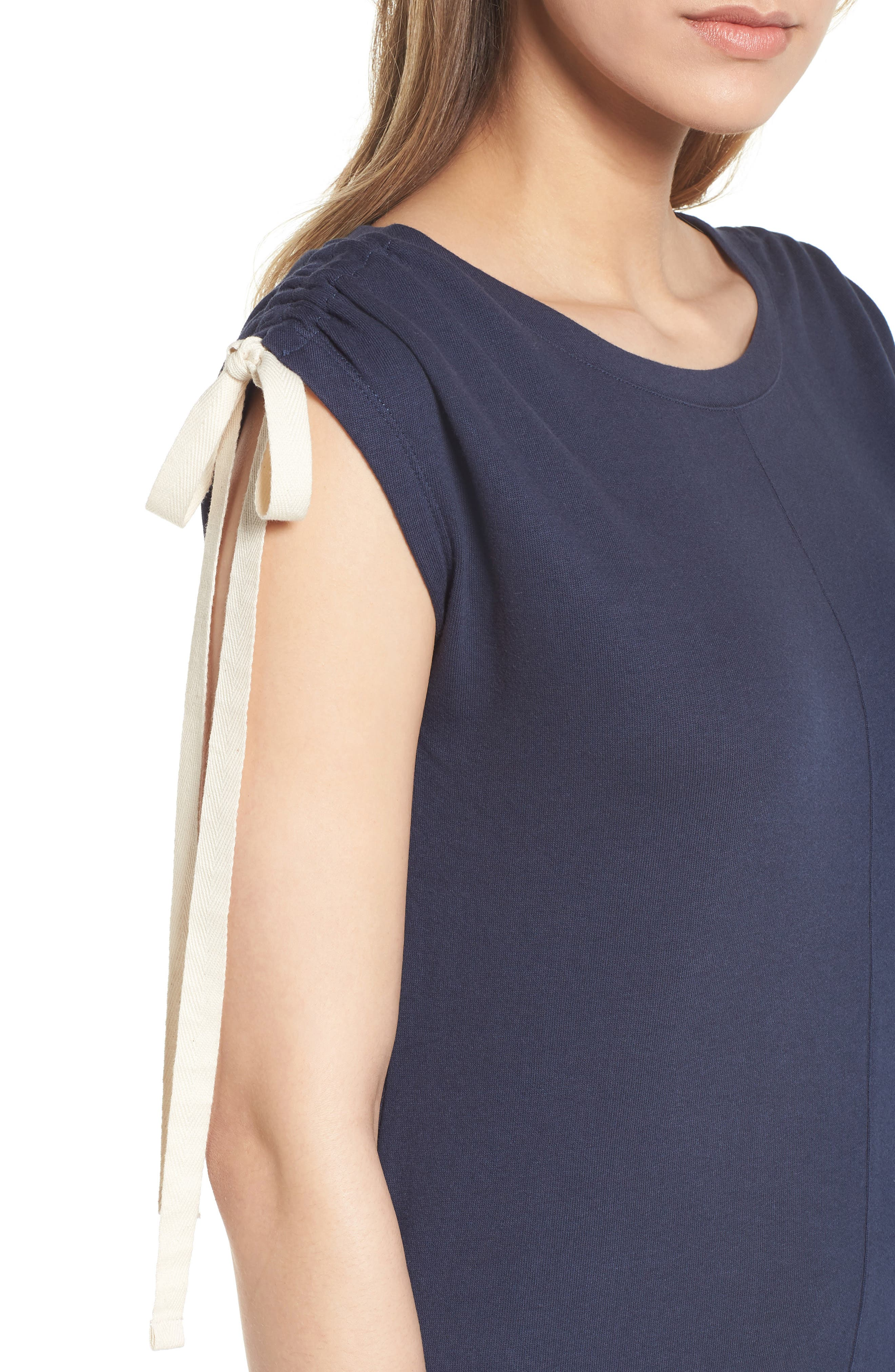 Tie Shoulder Shift Dress,                             Alternate thumbnail 9, color,