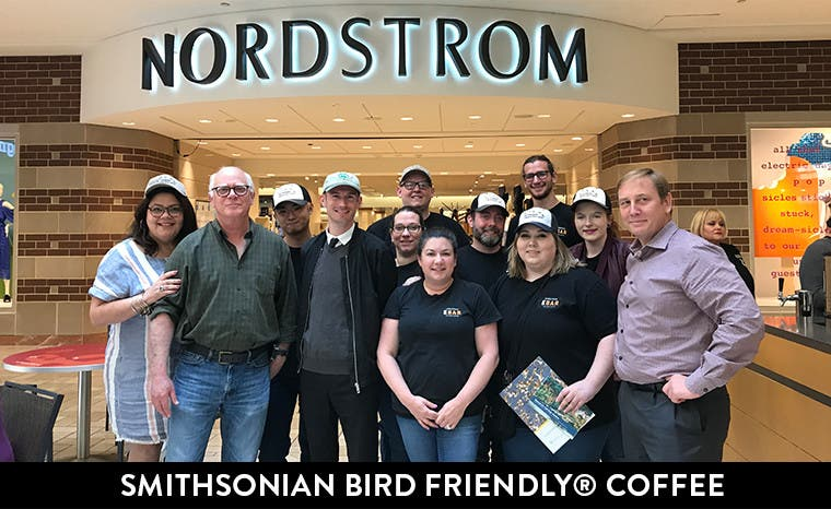Smithsonian Bird Friendly Coffee at Nordstrom.