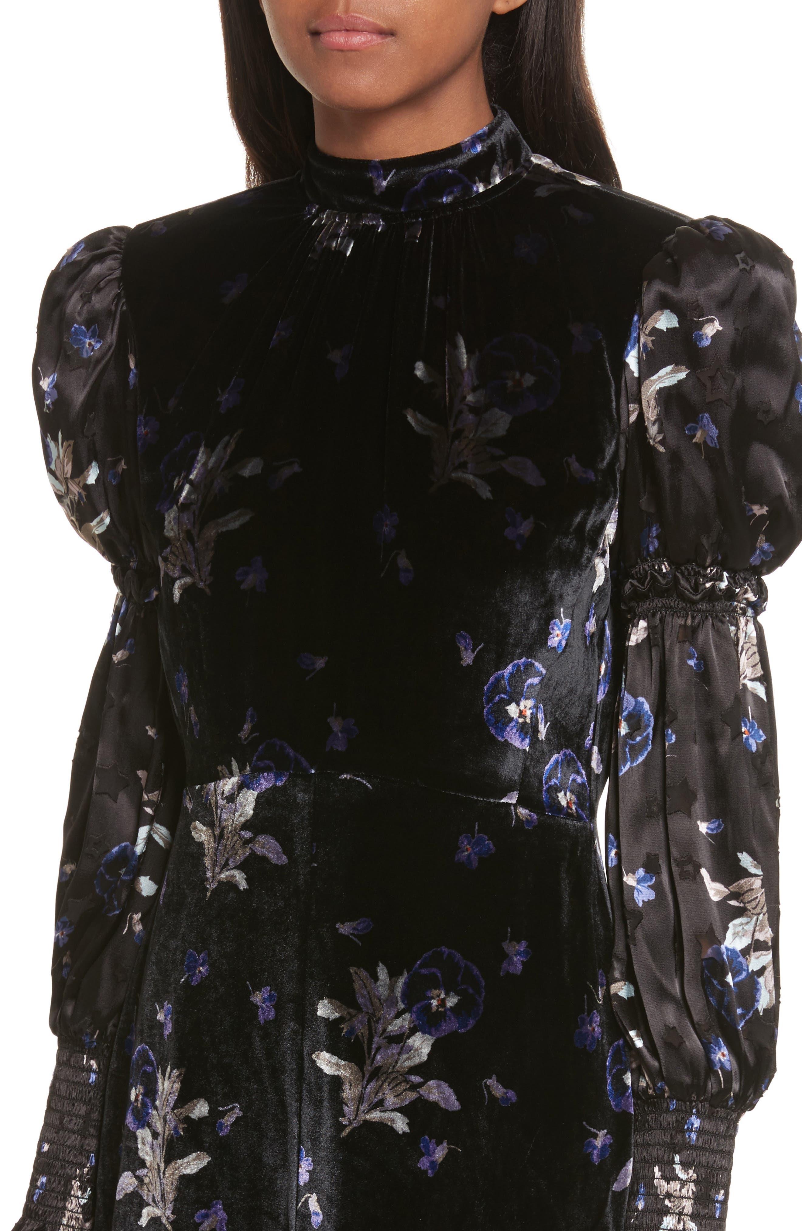 Violet Velvet Sheath Dress,                             Alternate thumbnail 4, color,                             014