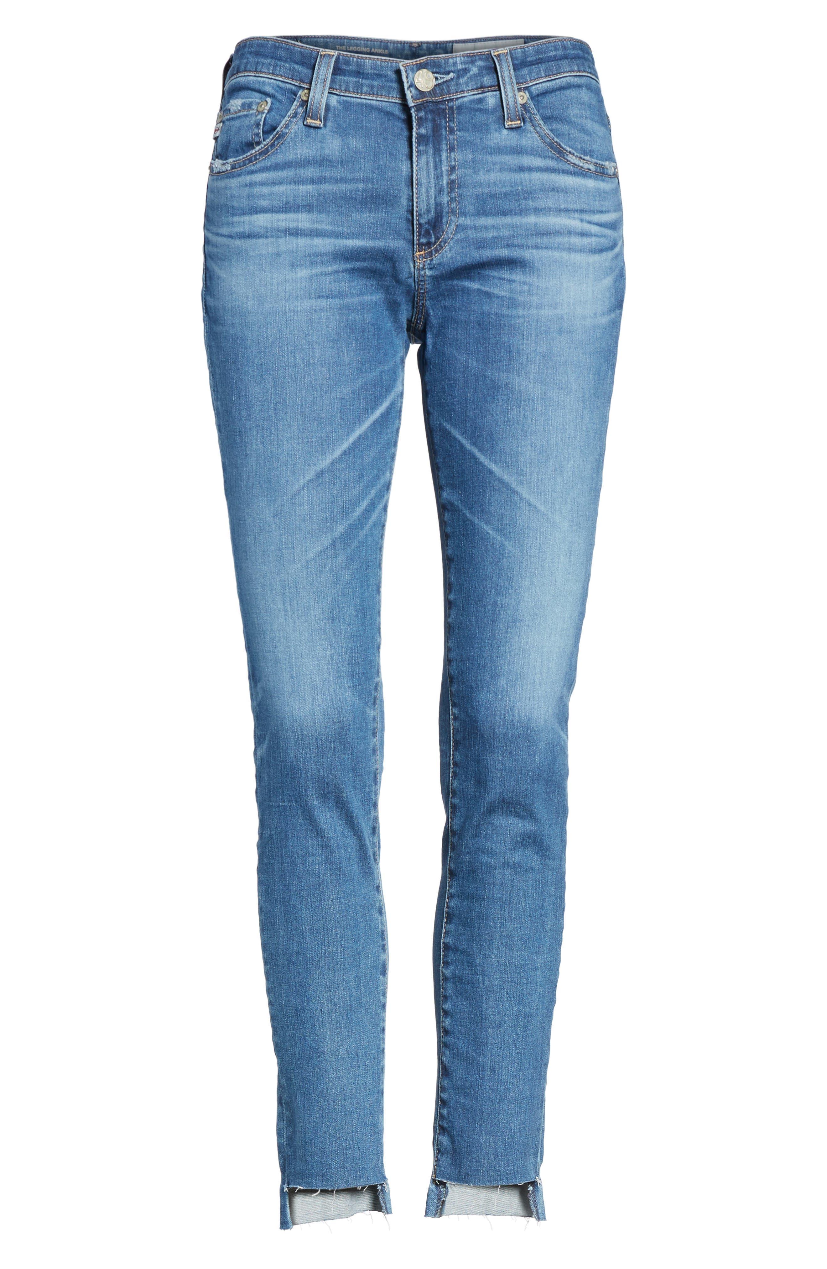 The Legging Step Hem Ankle Skinny Jeans,                             Alternate thumbnail 6, color,                             424