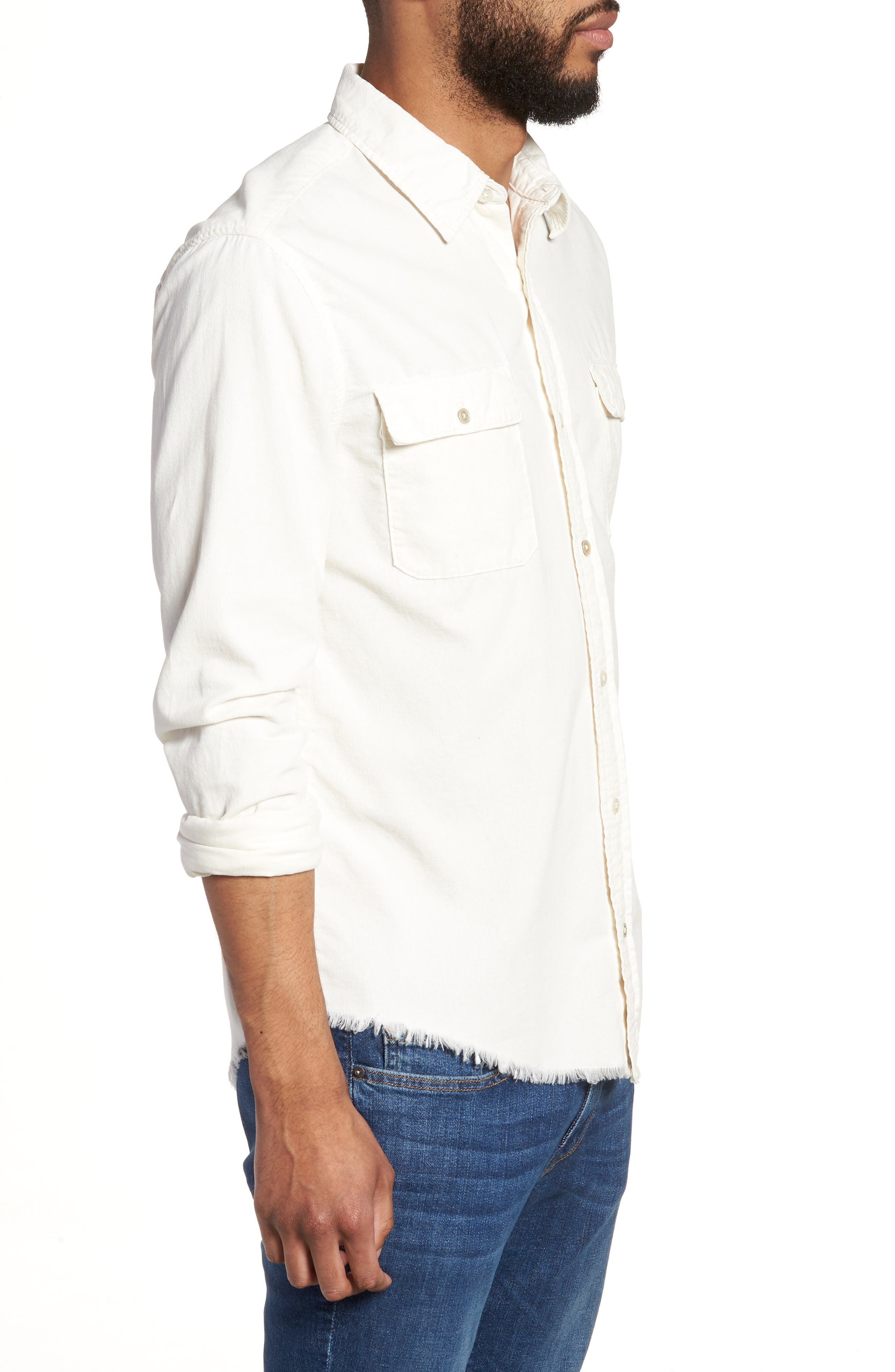 Regular Fit Corduroy Sport Shirt,                             Alternate thumbnail 3, color,                             120