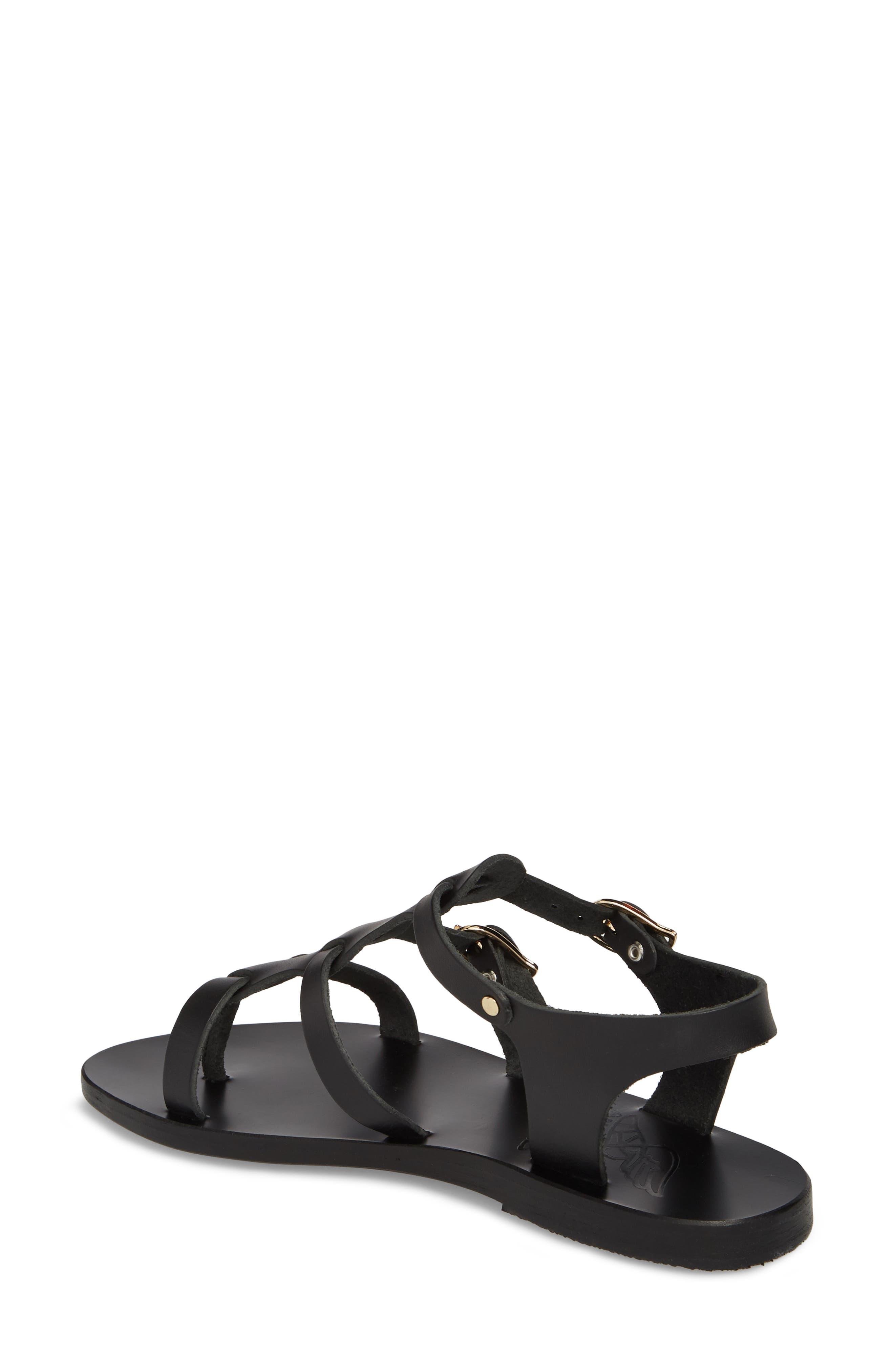 T-Strap Sandal,                             Alternate thumbnail 2, color,                             BLACK