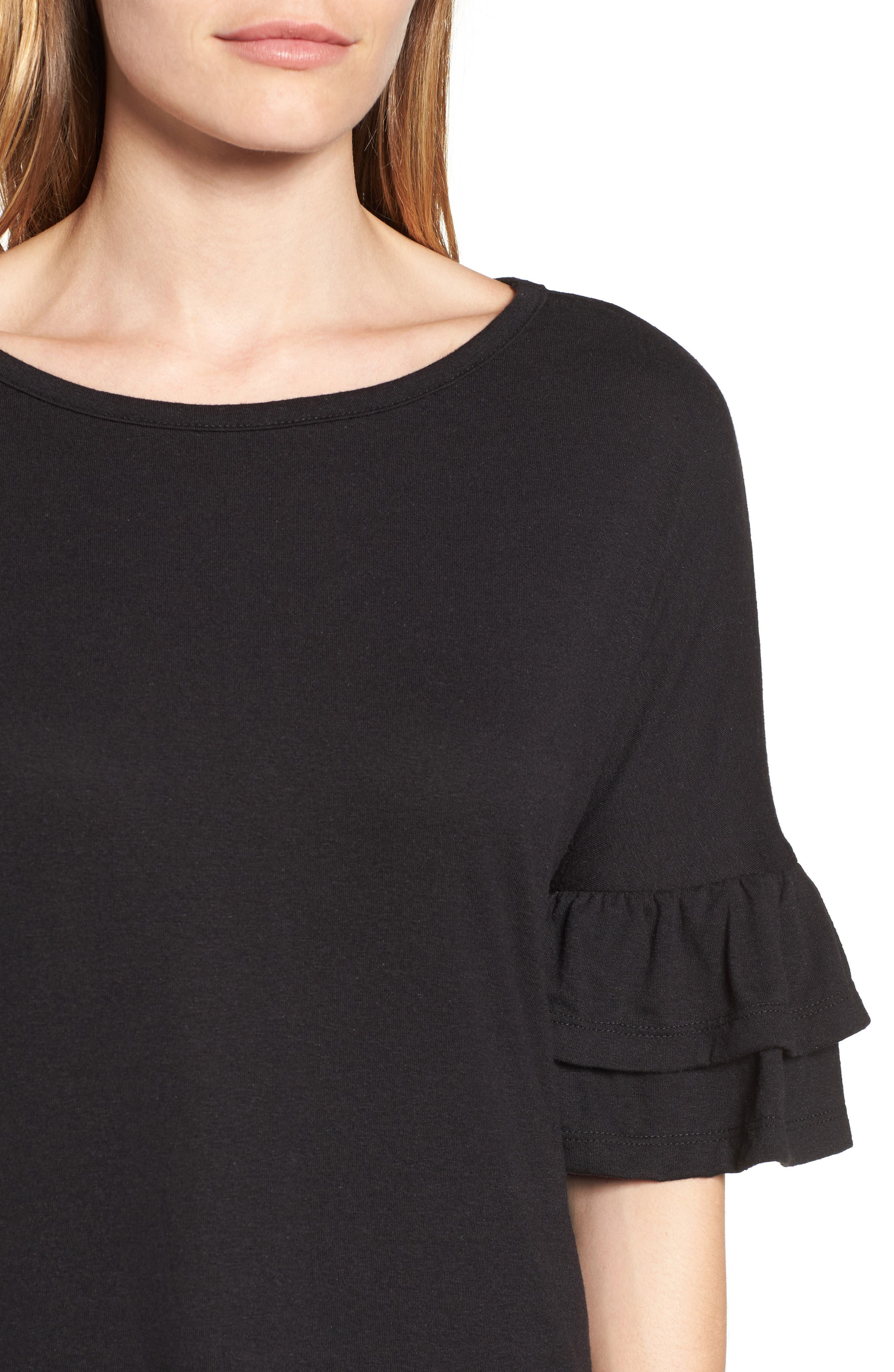 Tiered Bell Sleeve Tee,                             Alternate thumbnail 26, color,