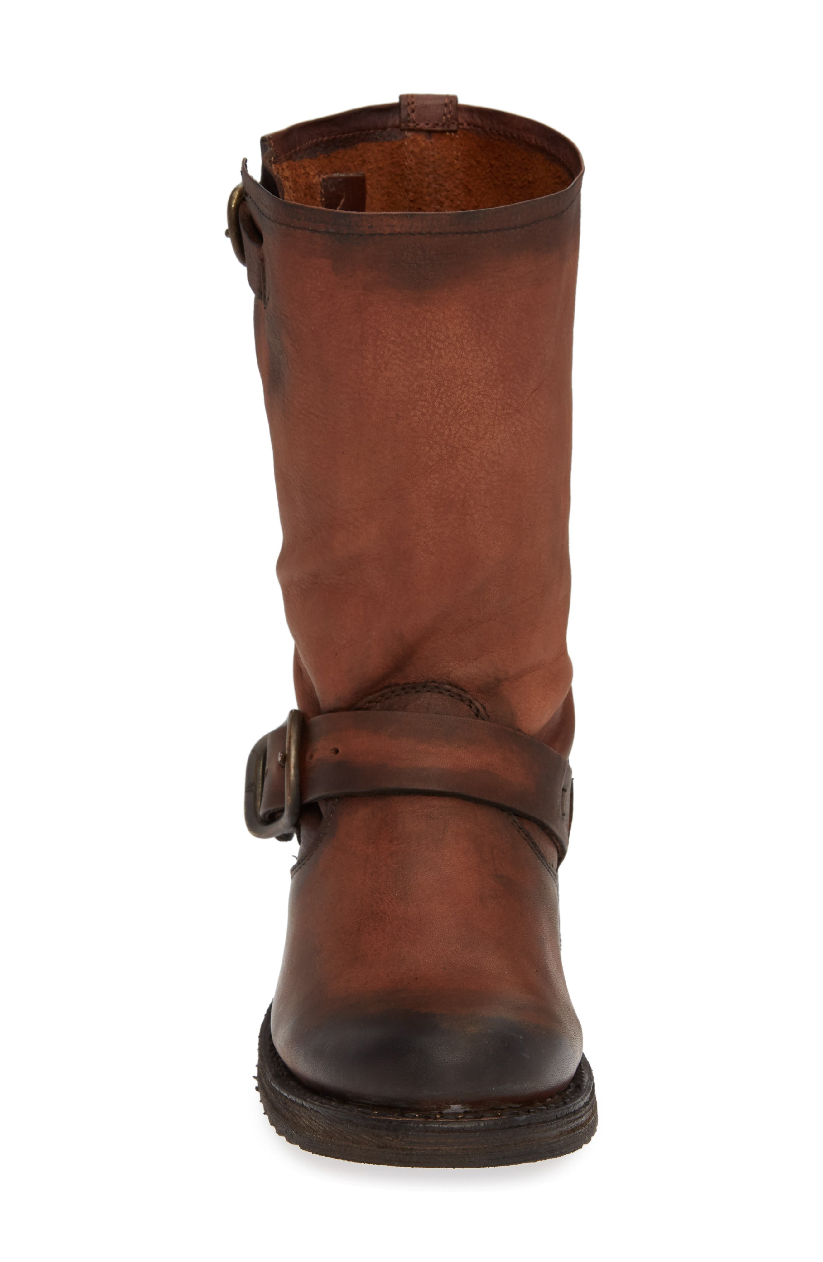 'Veronica' Short Boot,                             Alternate thumbnail 4, color,                             REDWOOD LEATHER