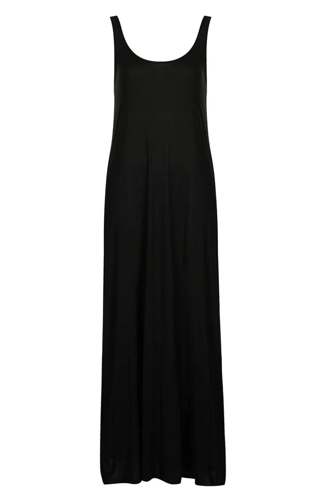 Knit Tank Maxi Dress,                             Alternate thumbnail 2, color,                             001