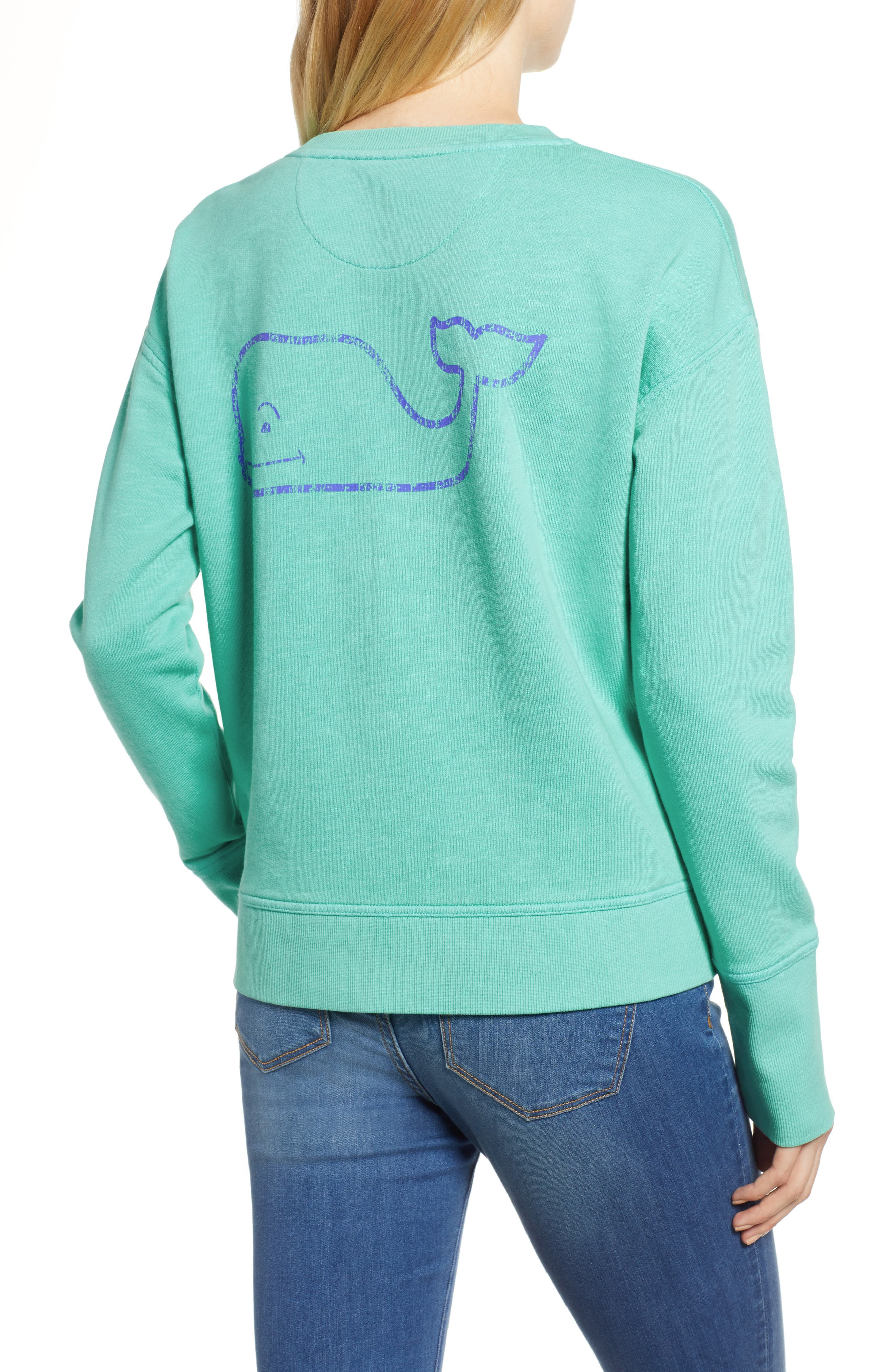Garment Dyed Vintage Whale Long Sleeve Cotton Tee,                             Alternate thumbnail 2, color,                             464