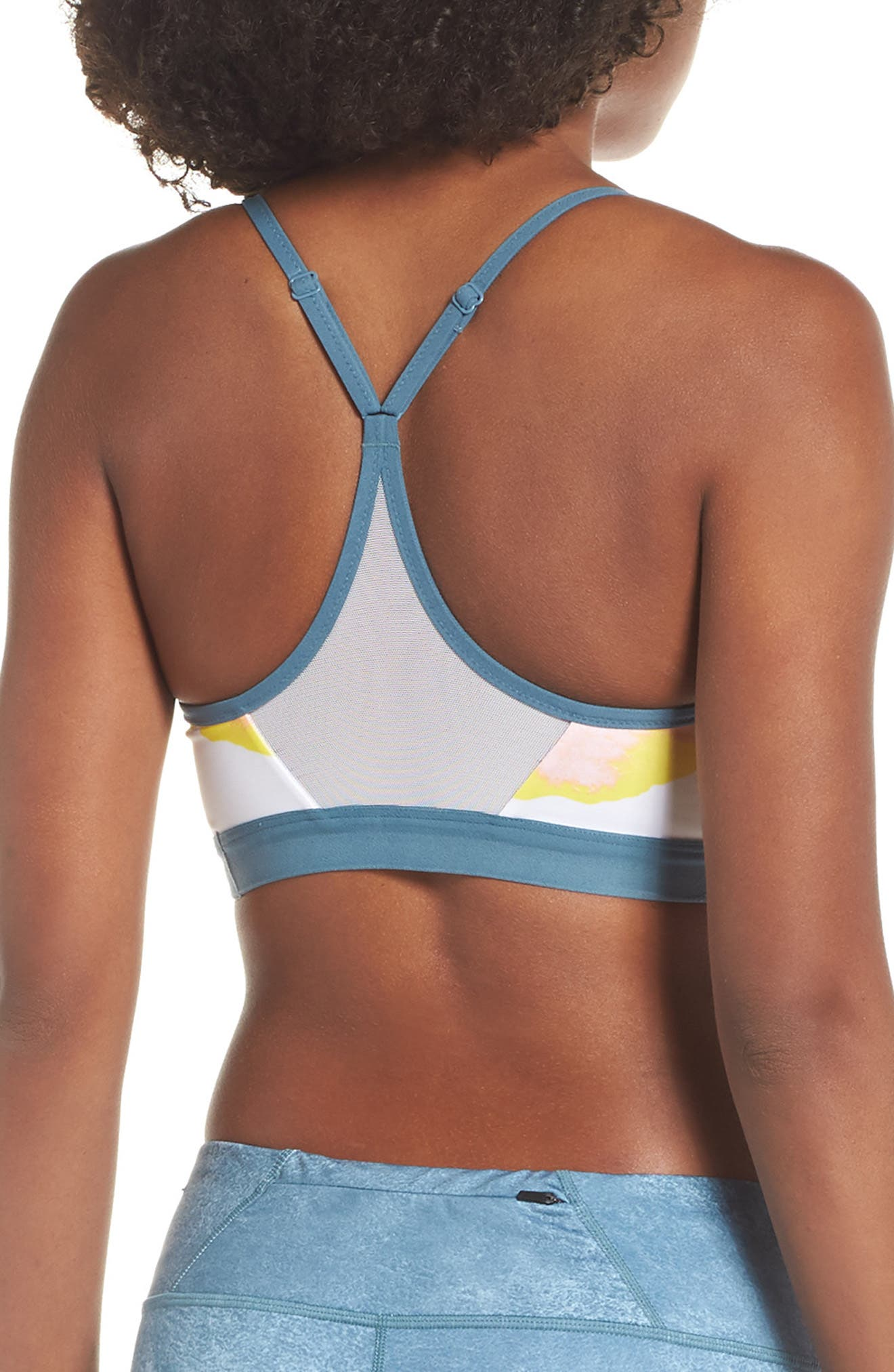 Indy Artist Sports Bra,                             Alternate thumbnail 2, color,                             WHITE/ CELESTIAL TEAL/ WHITE