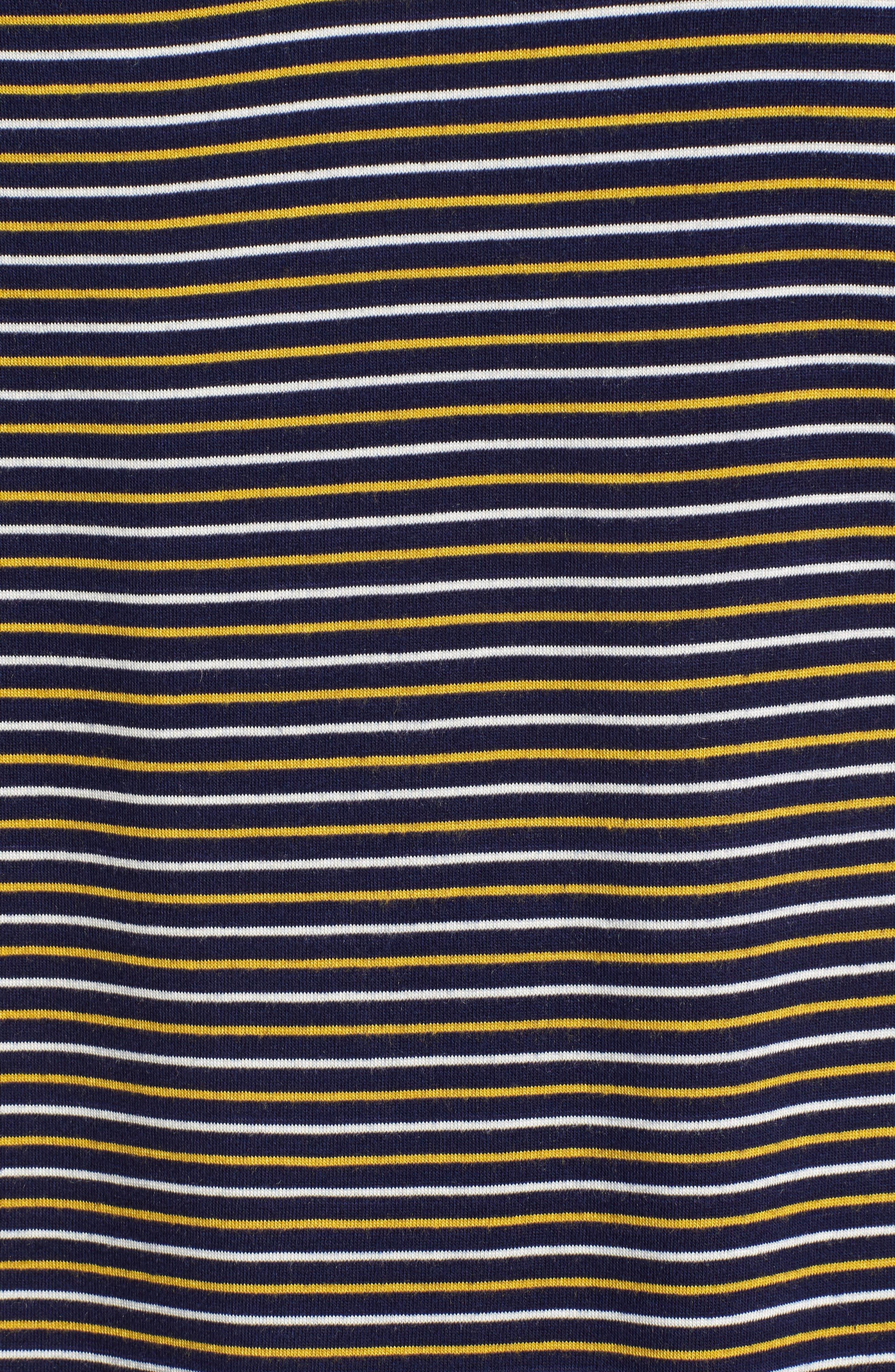 Stripe Surplice Back Tee,                             Alternate thumbnail 5, color,                             400