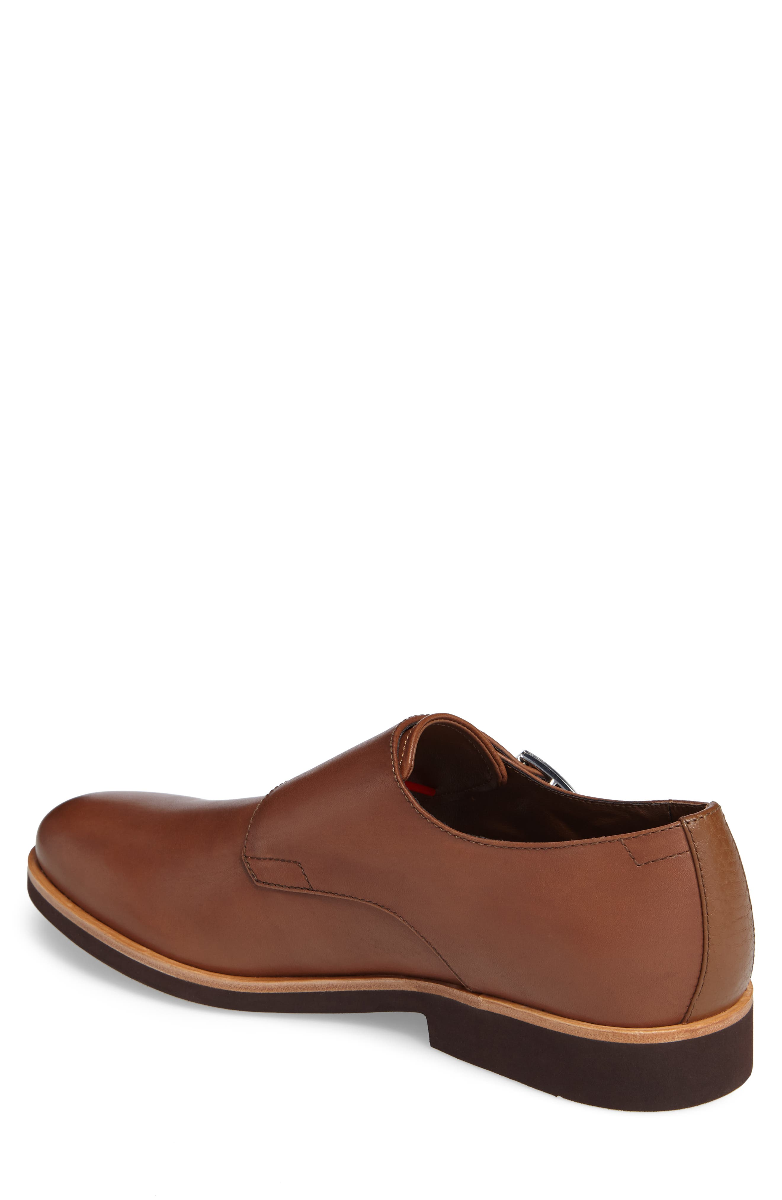 Finnegan Double Monk Strap Shoe,                             Alternate thumbnail 4, color,