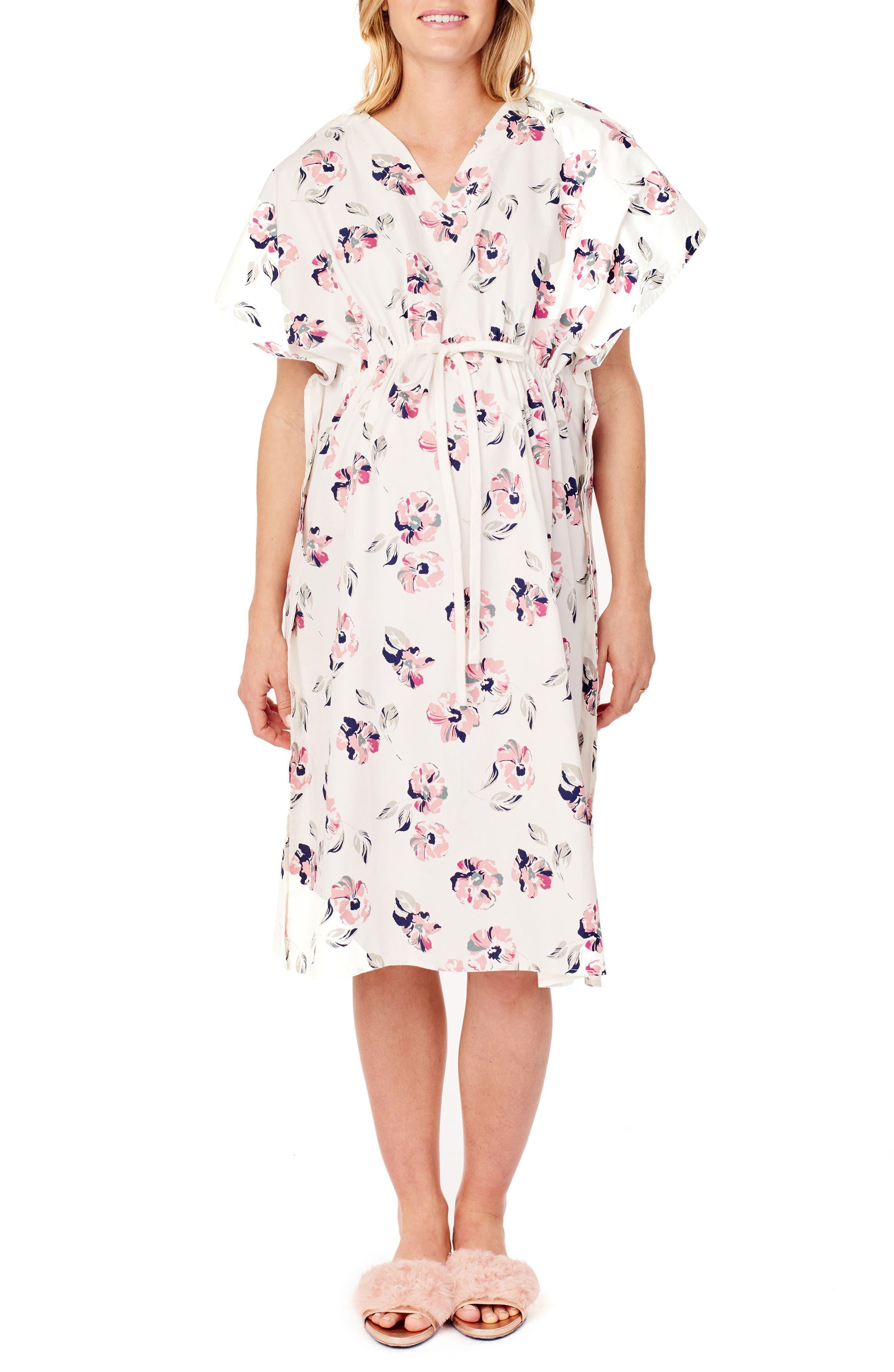 Ingrid & Isabel X James Fox & Co. Maternity/nursing Hospital Gown, Size One Size - Pink