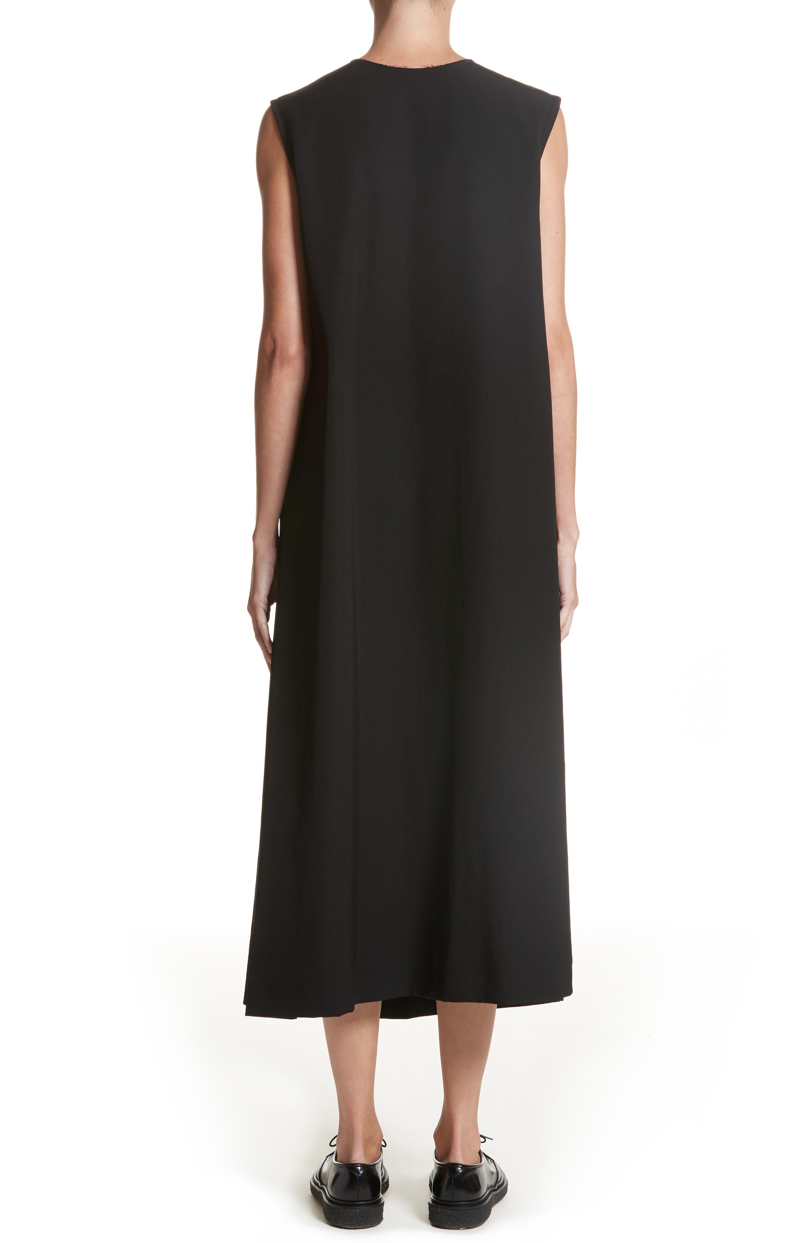 N-F Pleats Dress,                             Alternate thumbnail 2, color,                             001