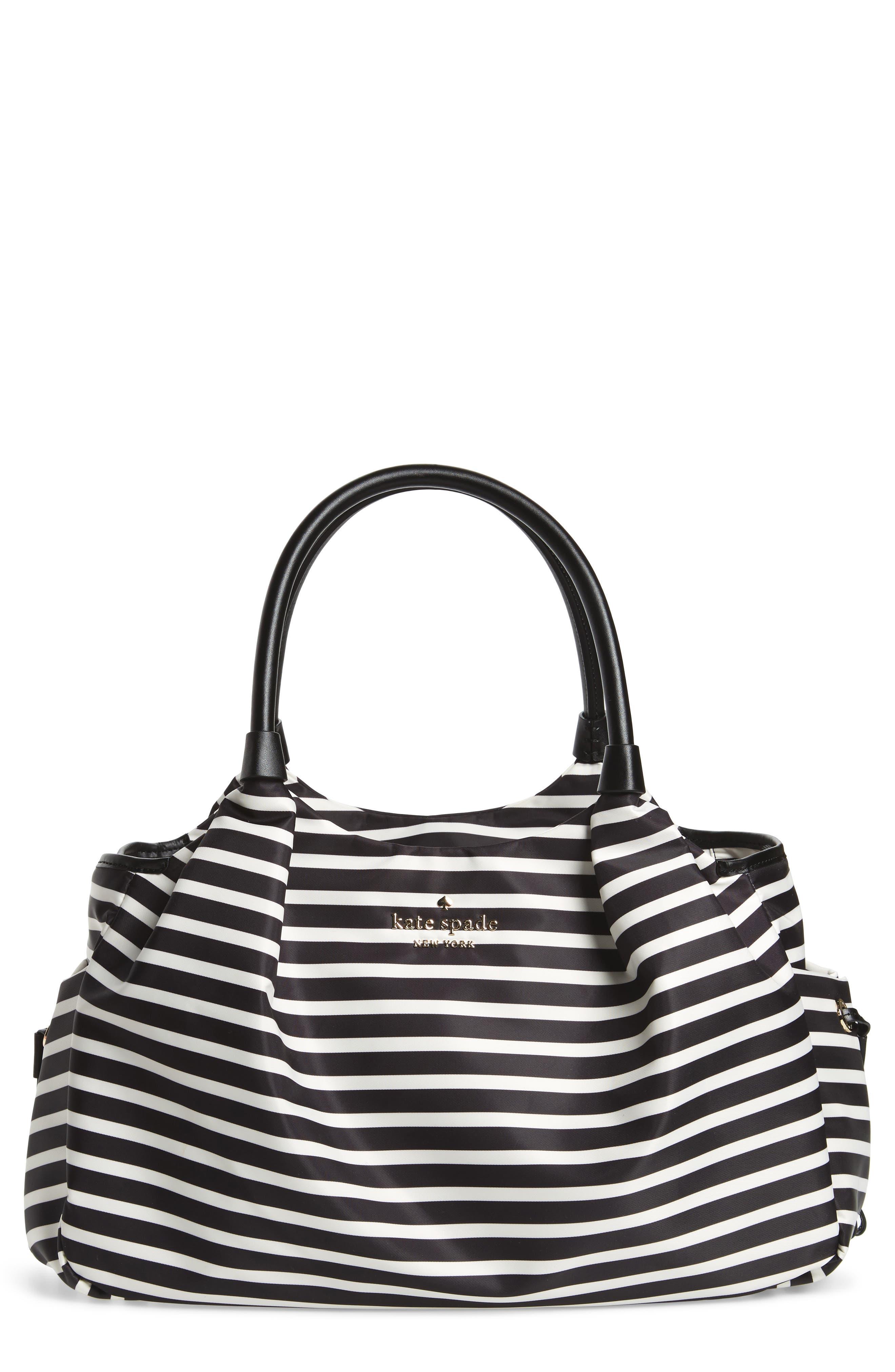 watson lane - stevie diaper bag,                         Main,                         color, BLACK/ CLOTTED CREAM