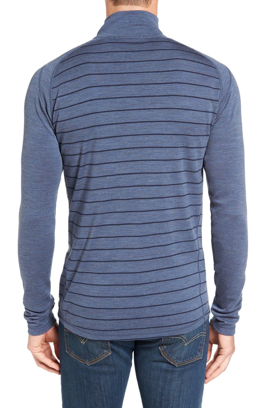Merino 250 Base Layer Pattern Quarter Zip Pullover,                             Alternate thumbnail 12, color,