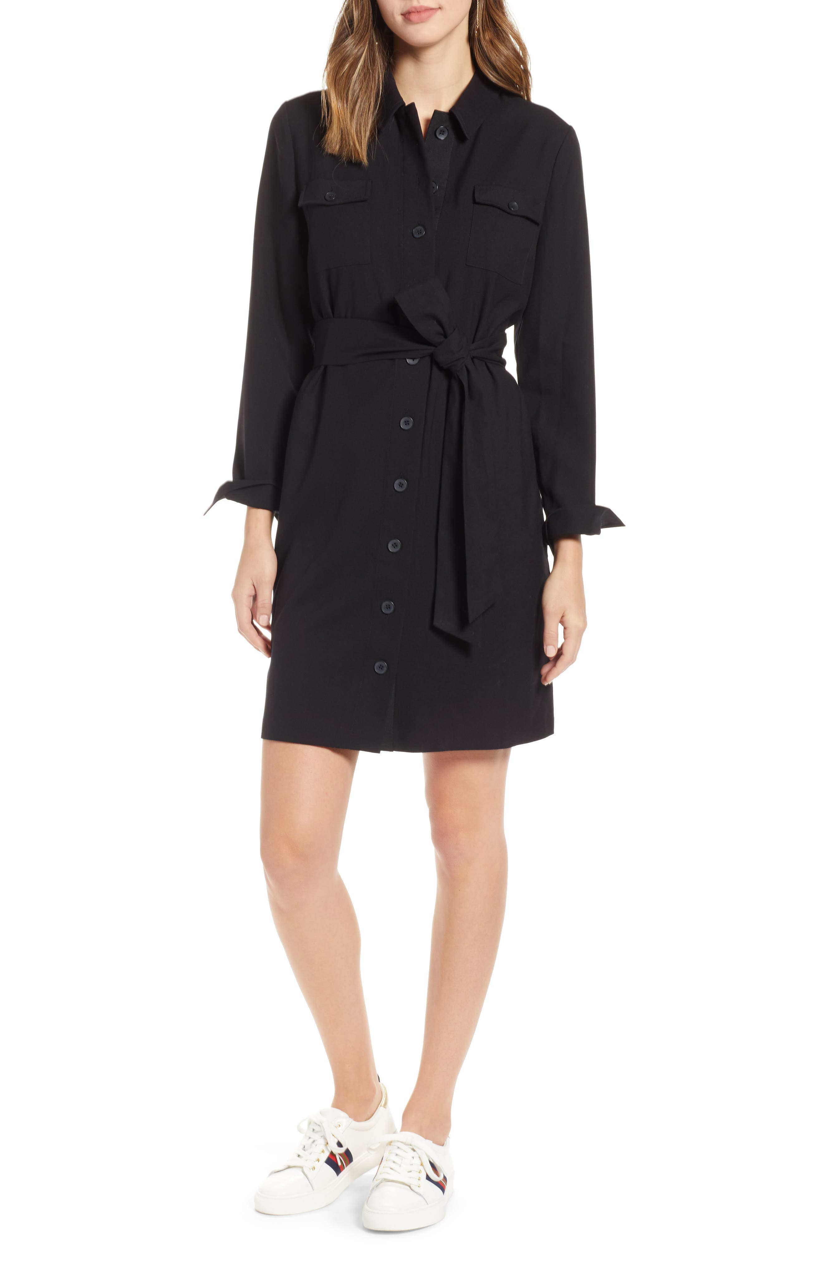 1901 Belted Shirtdress, Main, color, 001