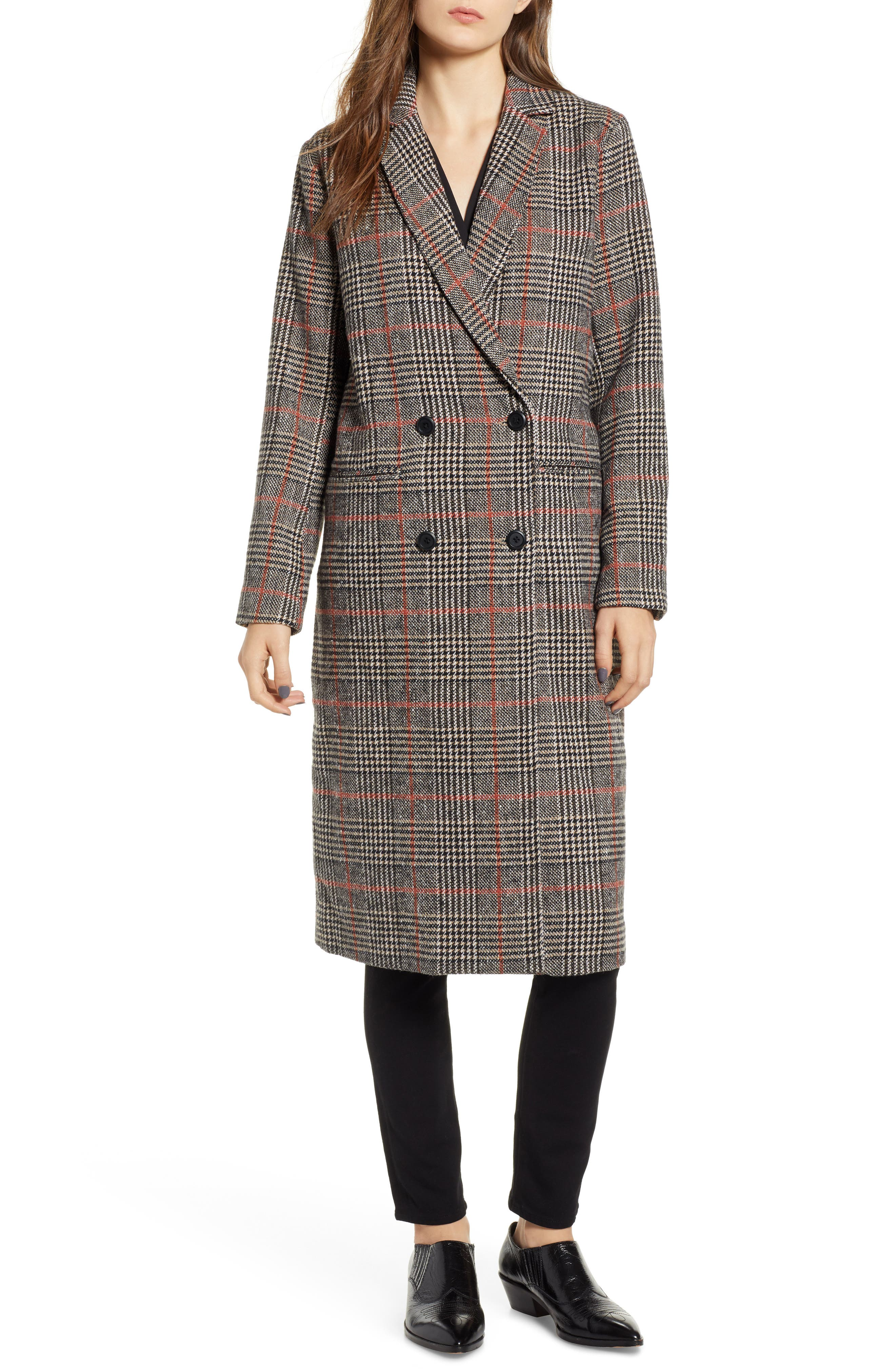 CUPCAKES AND CASHMERE,                             Plaid Duster Jacket,                             Alternate thumbnail 4, color,                             020