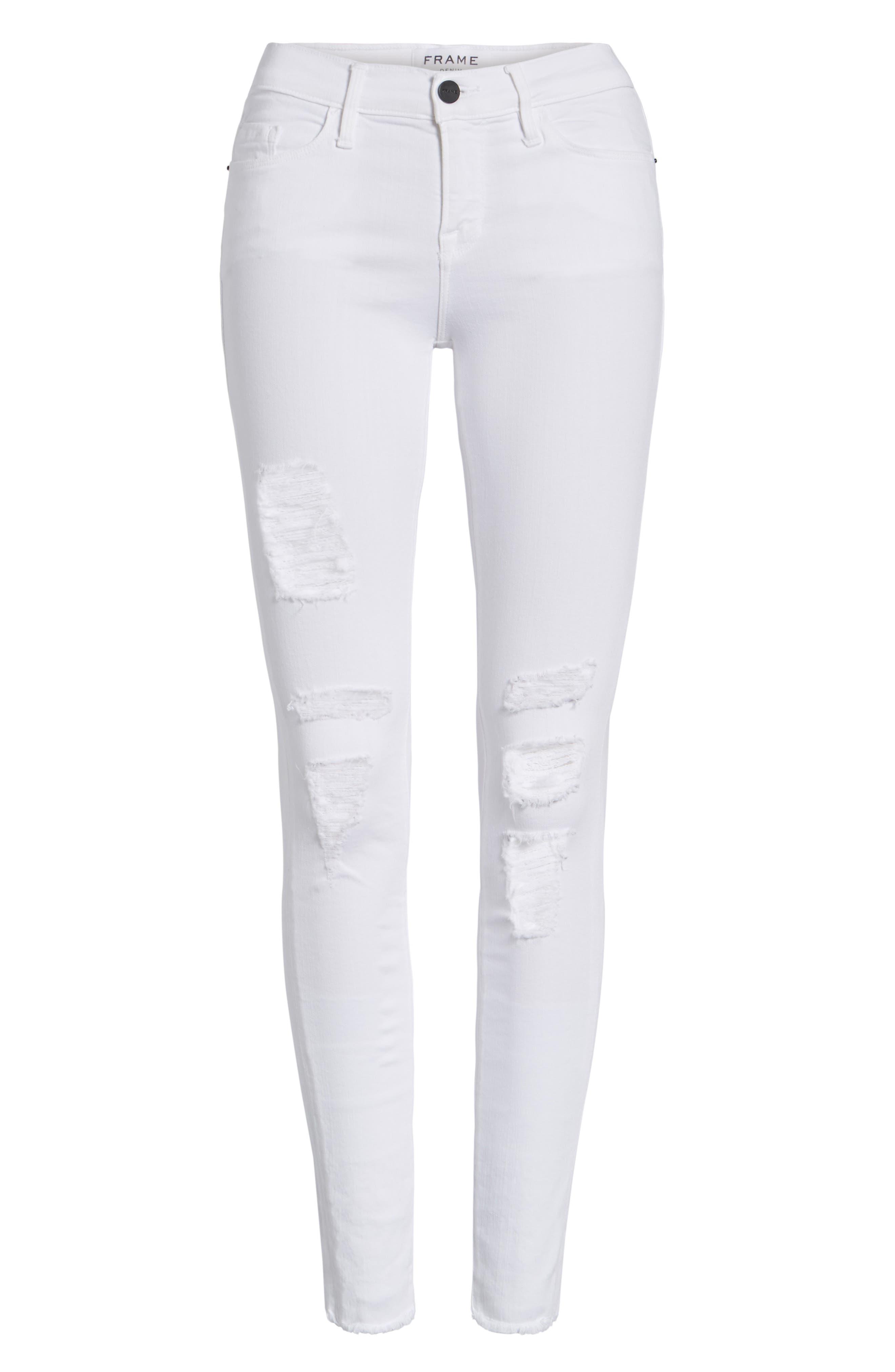 'Le Skinny de Jeanne' Ripped Jeans,                             Alternate thumbnail 11, color,