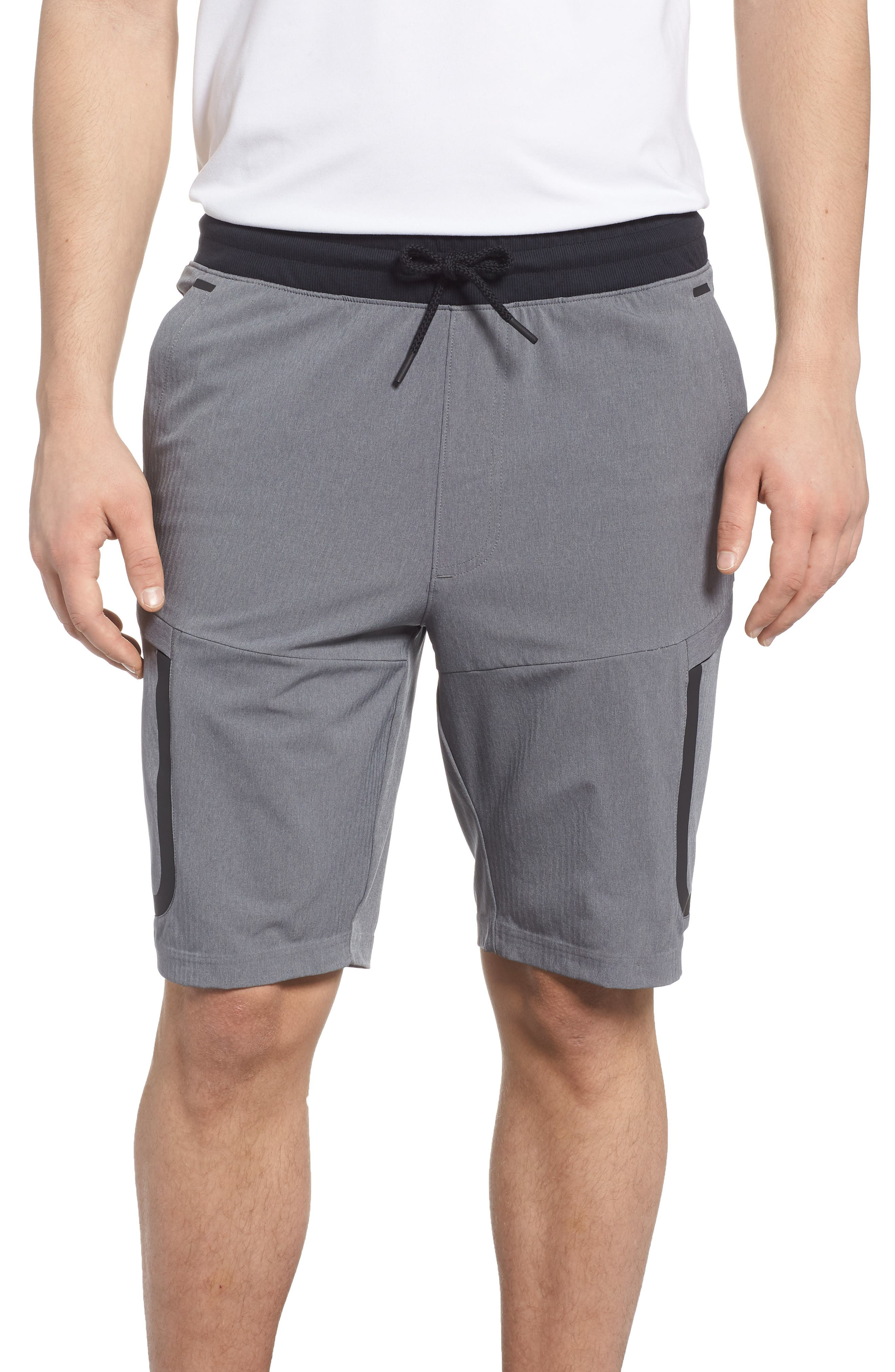 Sportstyle Elite Cargo Shorts,                         Main,                         color, STEEL FULL HEATHER / / BLACK
