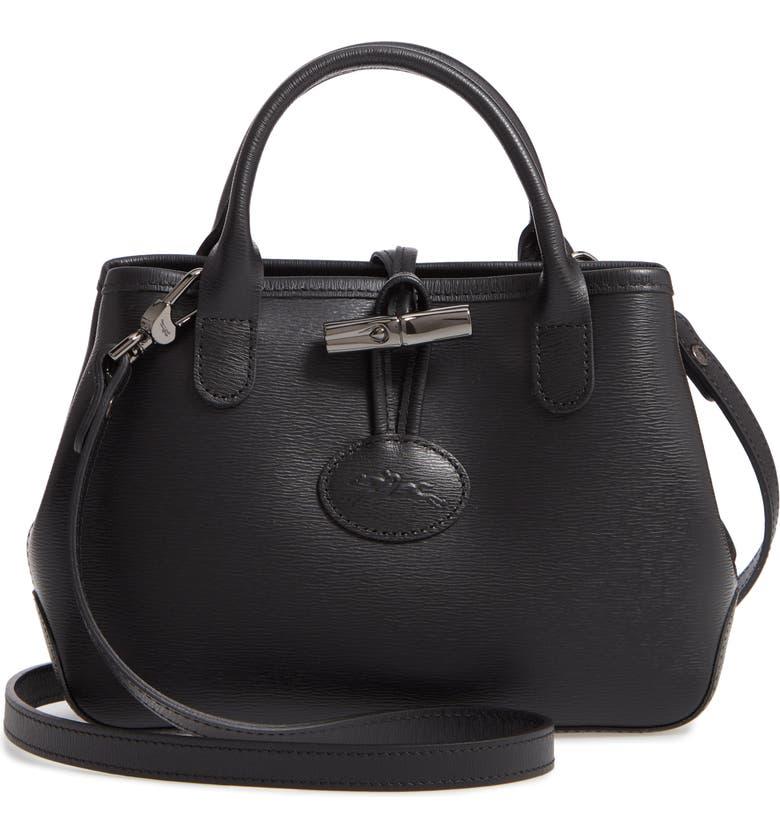 fd1cd45a20 Longchamp Mini Roseau Leather Crossbody Bag