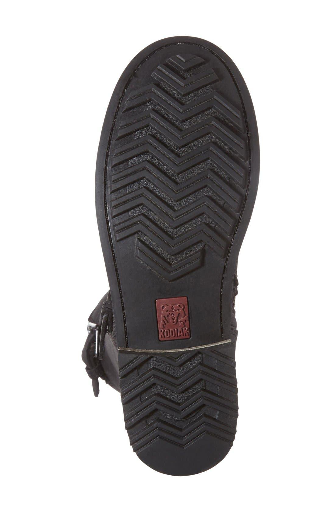 KODIAK,                             'Alcona' Waterproof Boot,                             Alternate thumbnail 3, color,                             BLACK LEATHER
