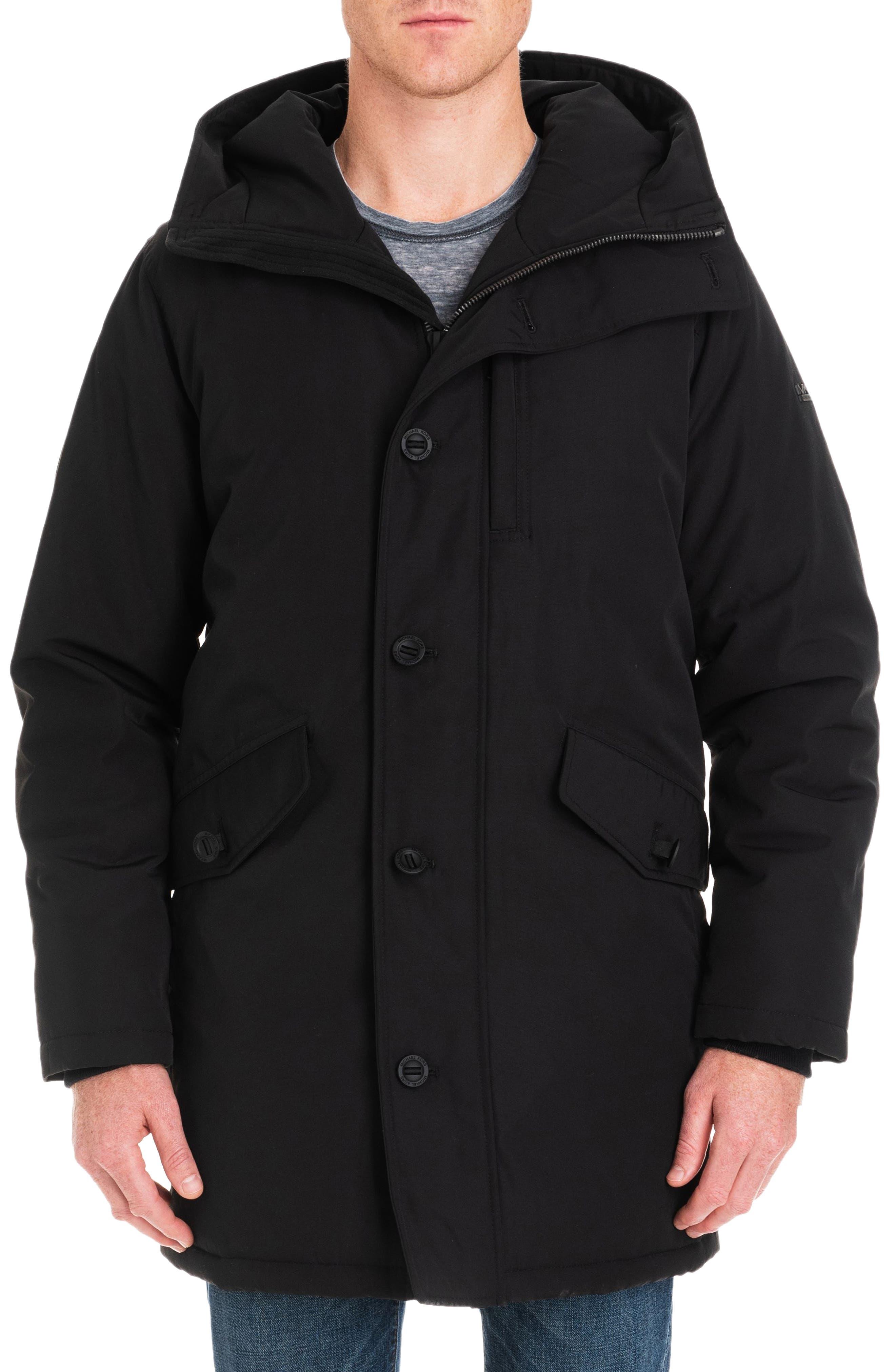 Gardiner Water Resistant Snorkel Coat,                             Main thumbnail 1, color,                             BLACK/ MIDNIGHT