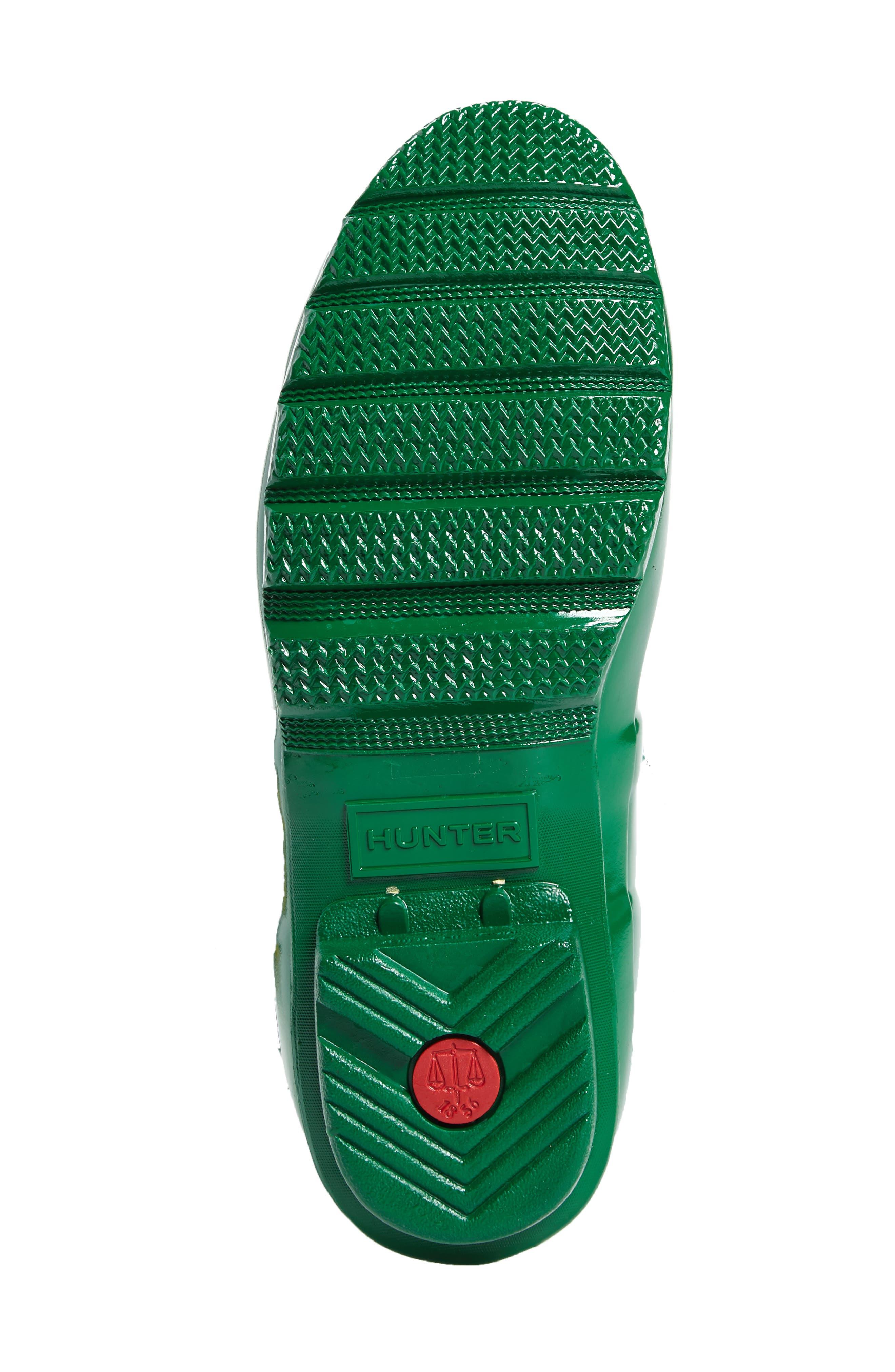 Adjustable Back Gloss Waterproof Rain Boot,                             Alternate thumbnail 6, color,                             360