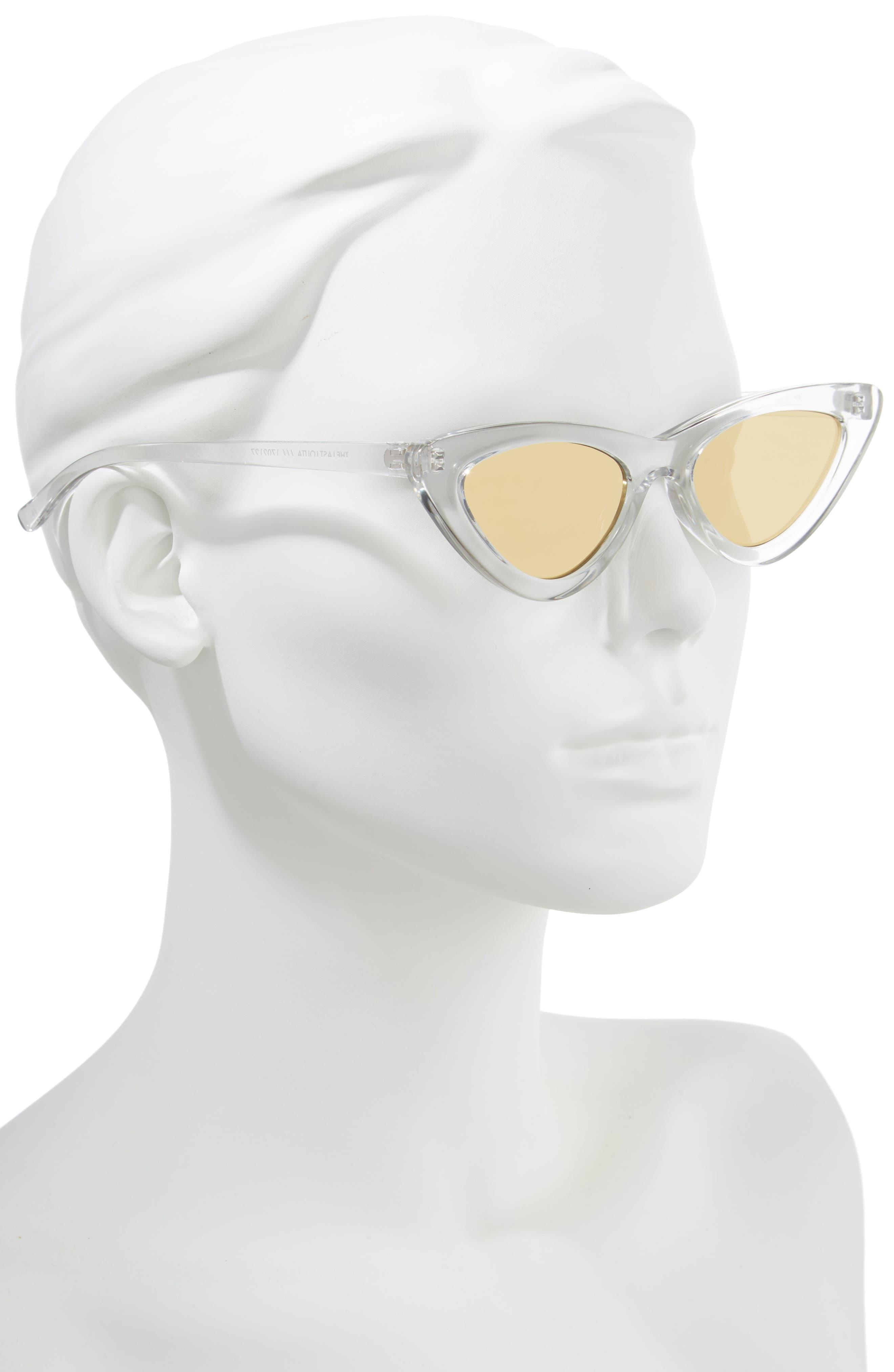 Lolita 49mm Cat Eye Sunglasses,                             Alternate thumbnail 2, color,                             CRYSTAL GREY