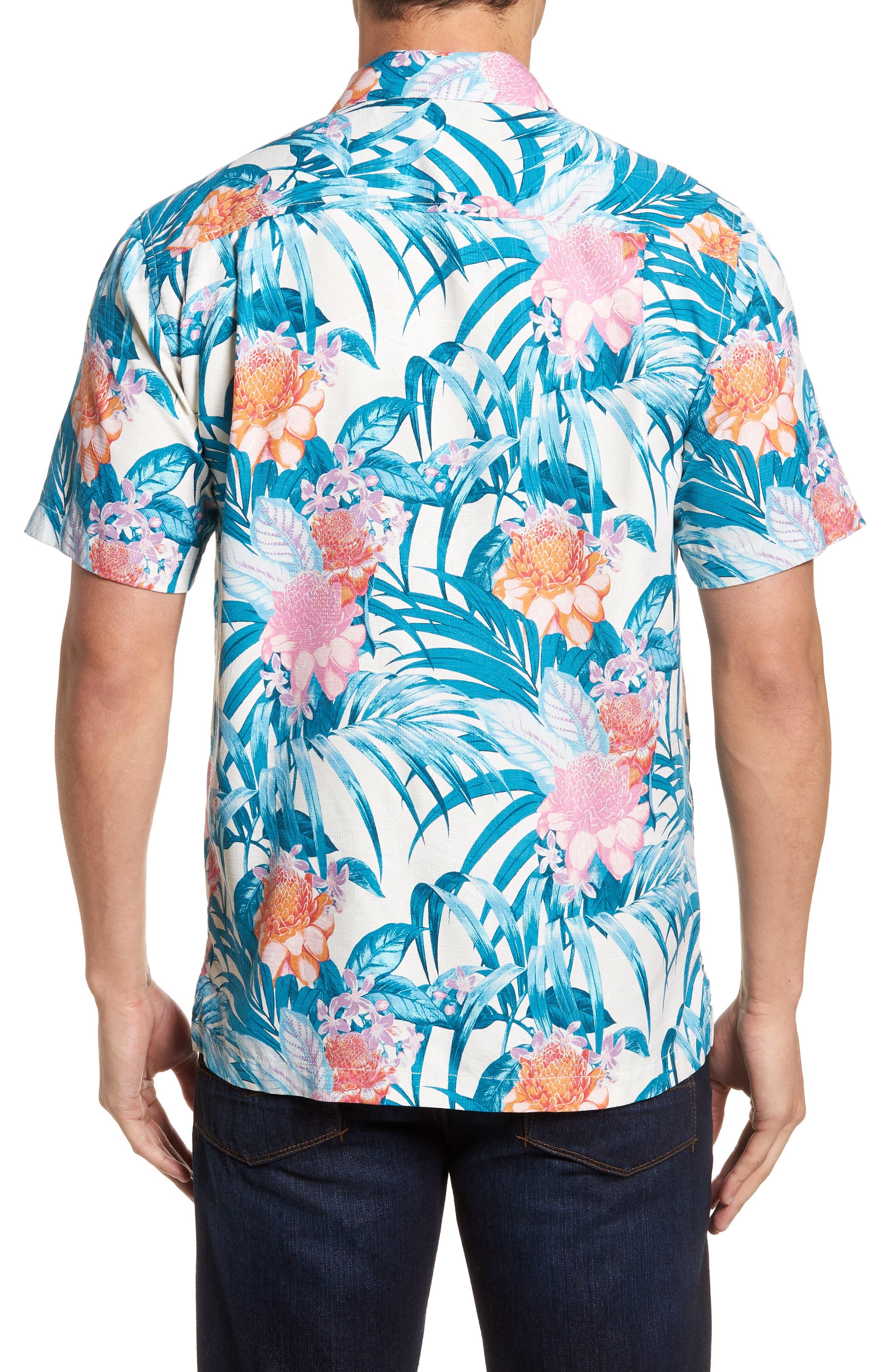 Garden of Hope and Courage Regular Fit Silk Blend Camp Shirt,                             Alternate thumbnail 2, color,                             100