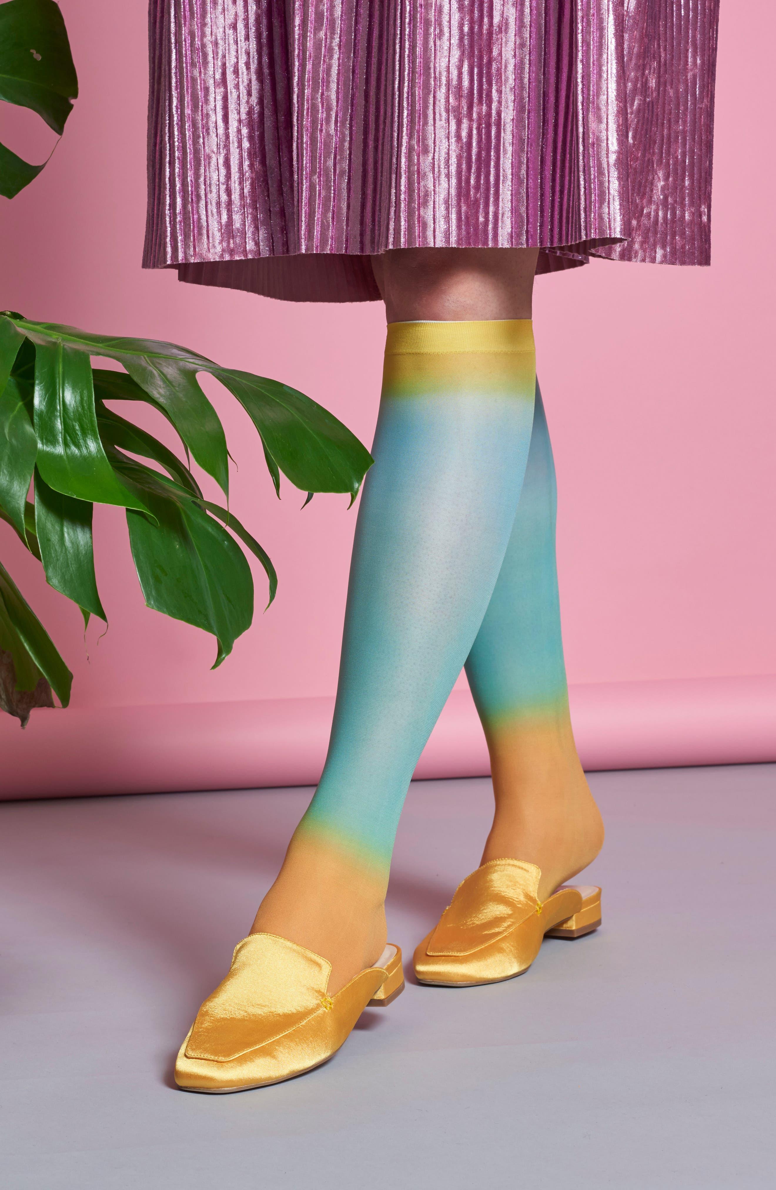HYSTERIA BY HAPPY SOCKS,                             Mia Print Knee High Socks,                             Alternate thumbnail 4, color,                             449