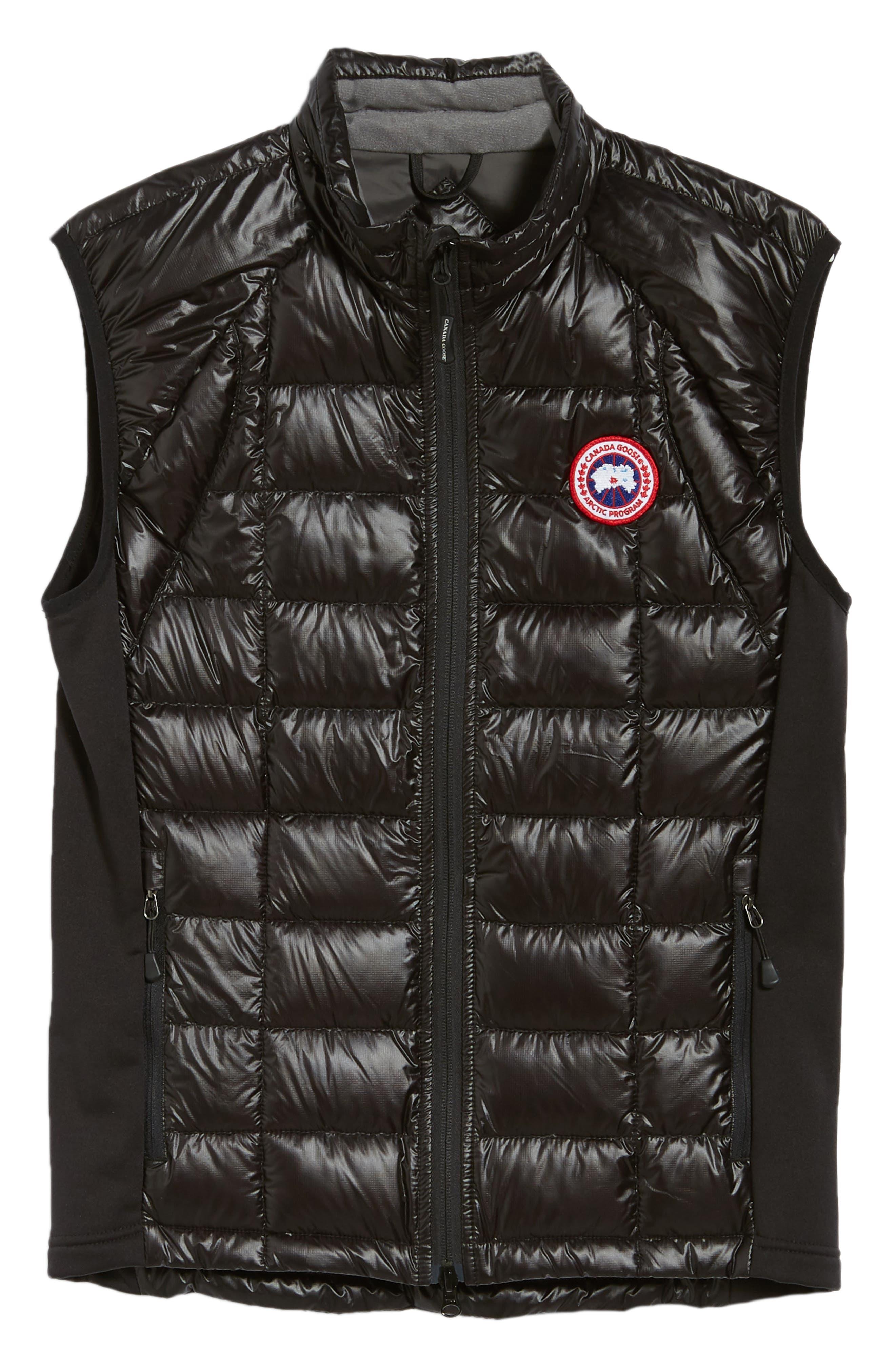 'Hybridge<sup>™</sup> Lite' Slim Fit Packable Quilted 800-Fill Down Vest,                             Alternate thumbnail 5, color,                             BLACK/ GRAPHITE