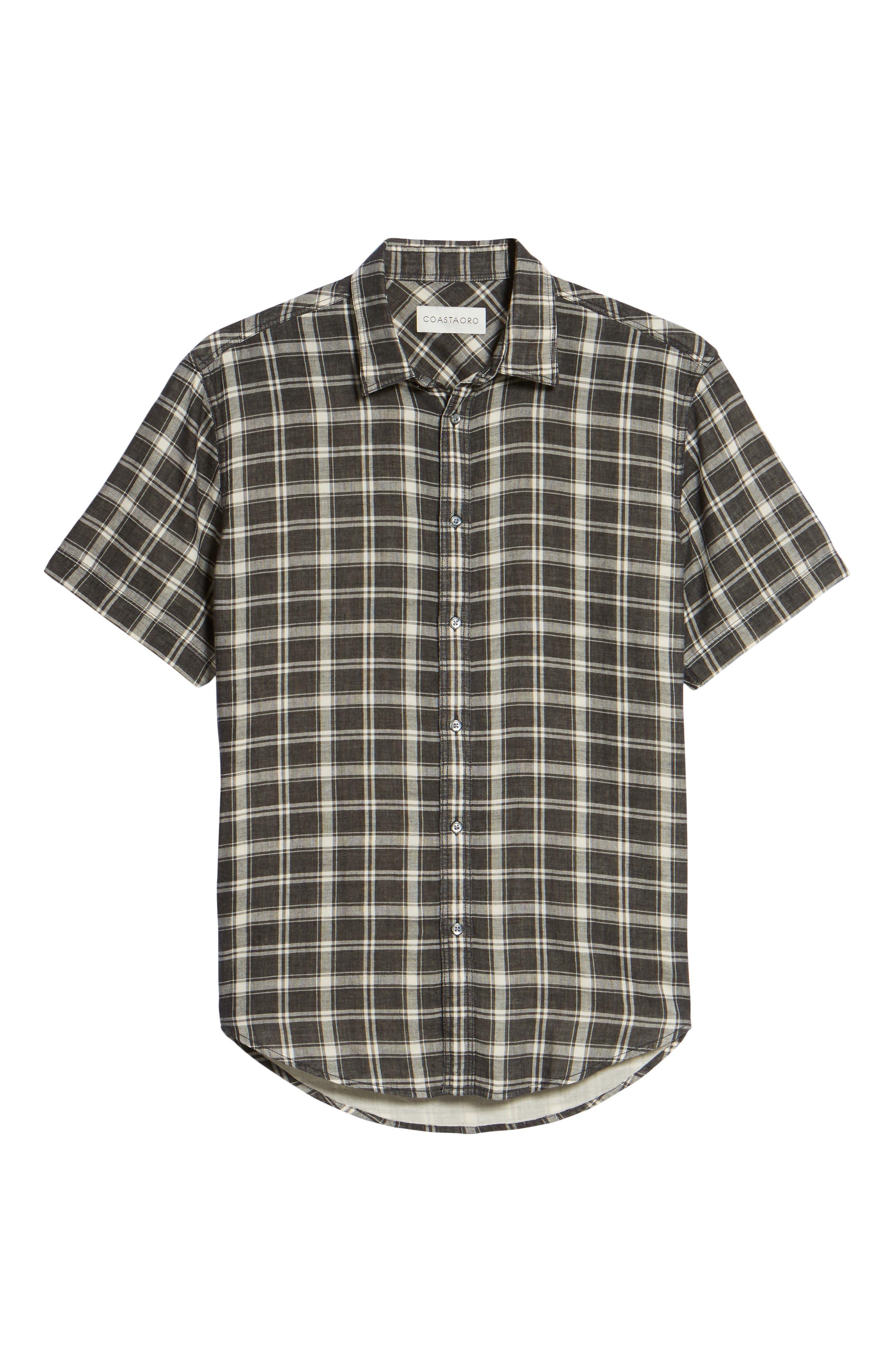 Hansen Regular Fit Plaid Sport Shirt,                             Alternate thumbnail 6, color,                             010