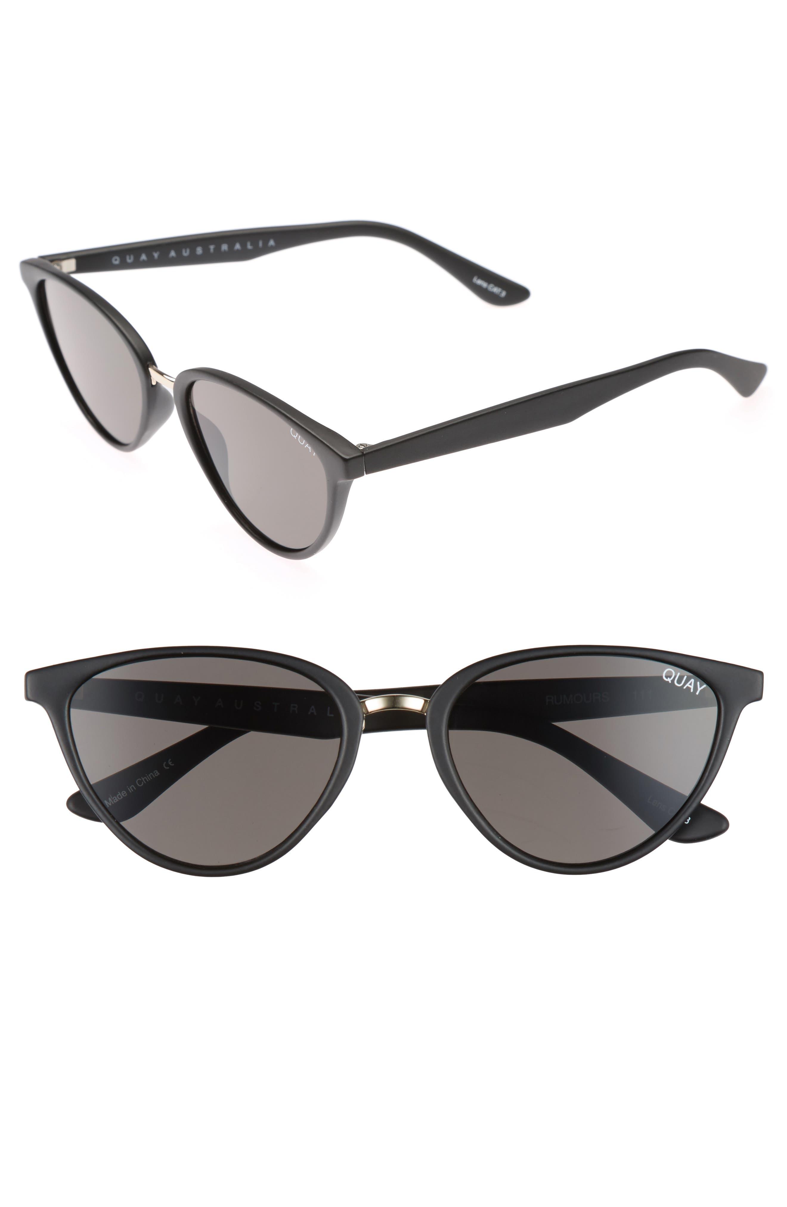Quay Australia Rumors 57Mm Sunglasses - Black Smoke